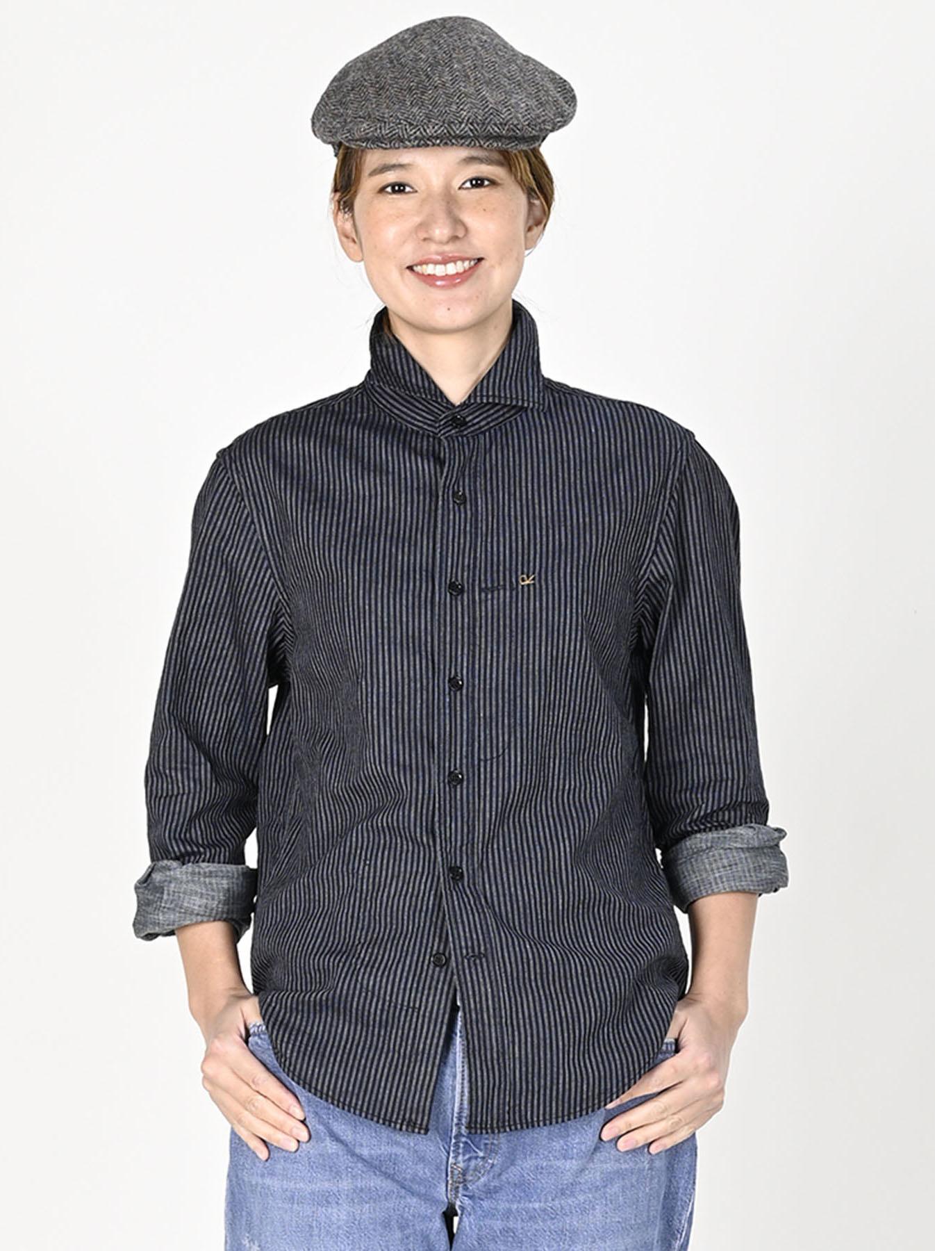 Indigo Double Cloth 908 Regular Shirt-7