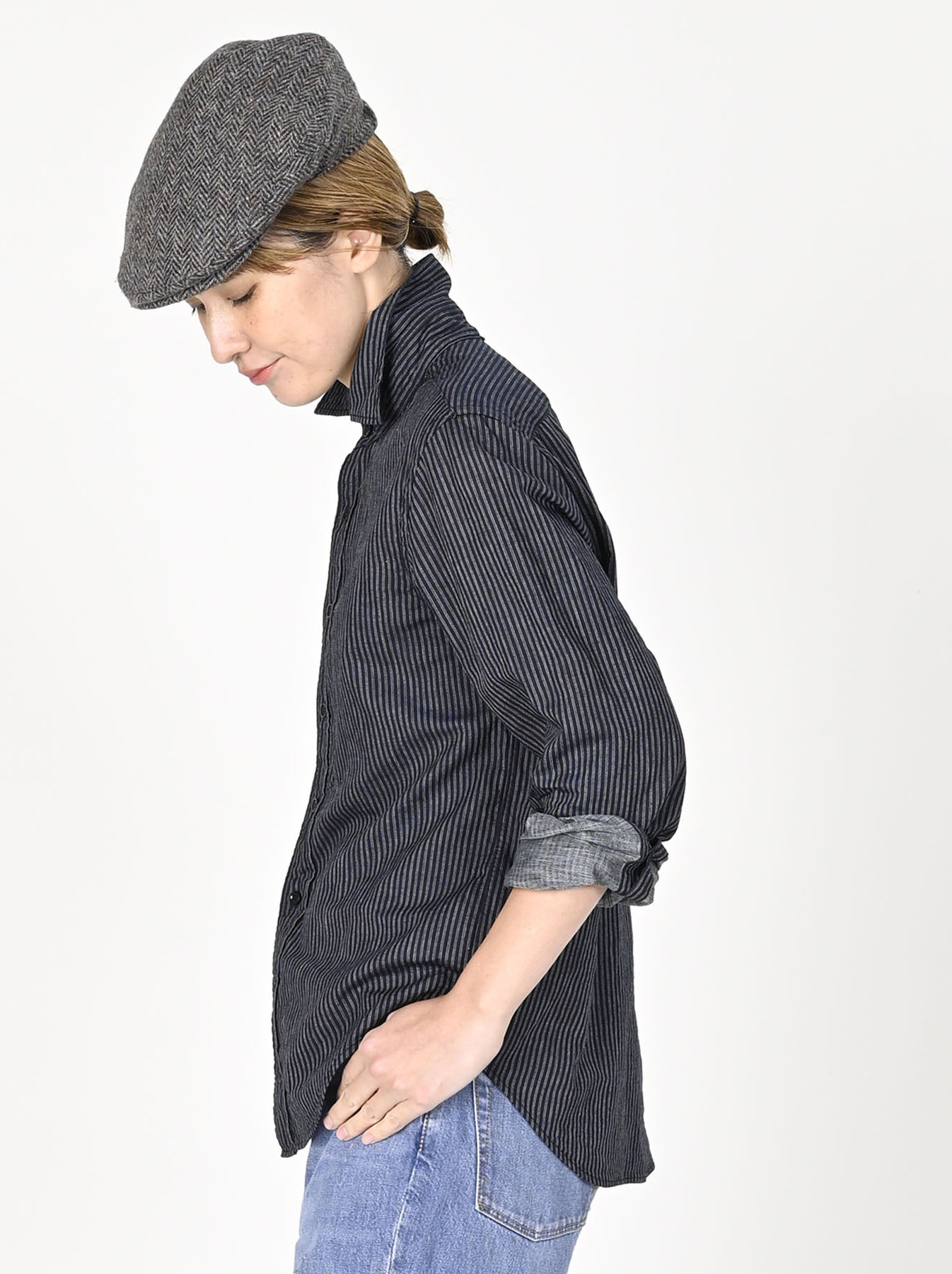 Indigo Double Cloth 908 Regular Shirt-8