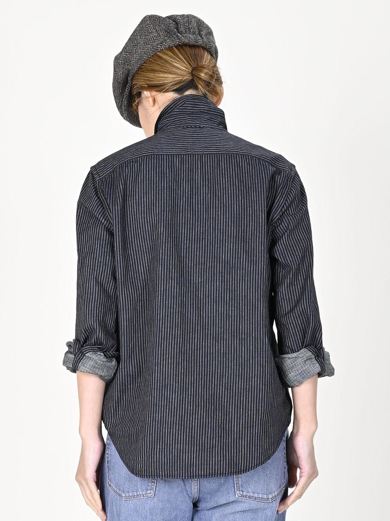 Indigo Double Cloth 908 Regular Shirt-9