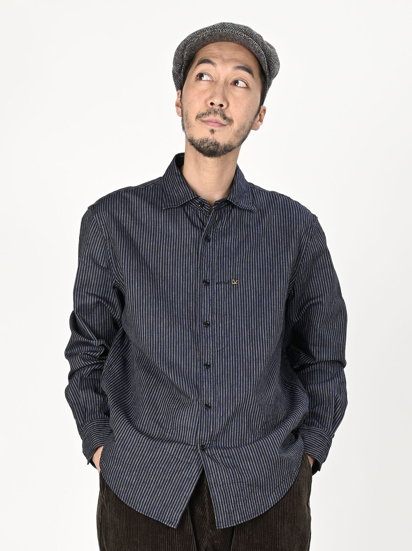 Indigo Double Cloth 908 Regular Shirt-3