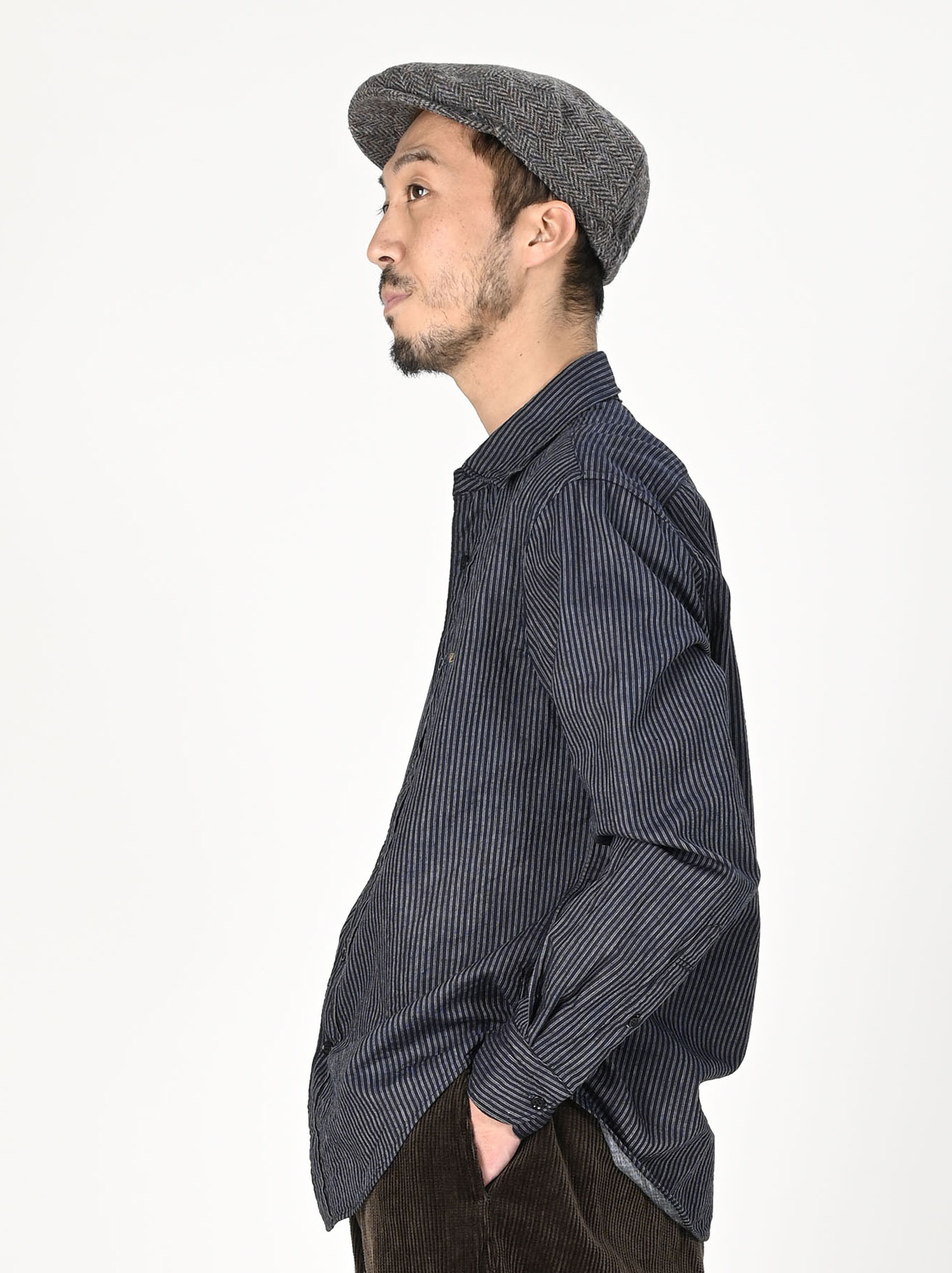 Indigo Double Cloth 908 Regular Shirt-4