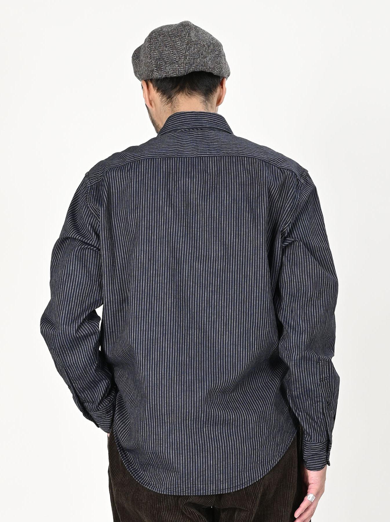 Indigo Double Cloth 908 Regular Shirt-5