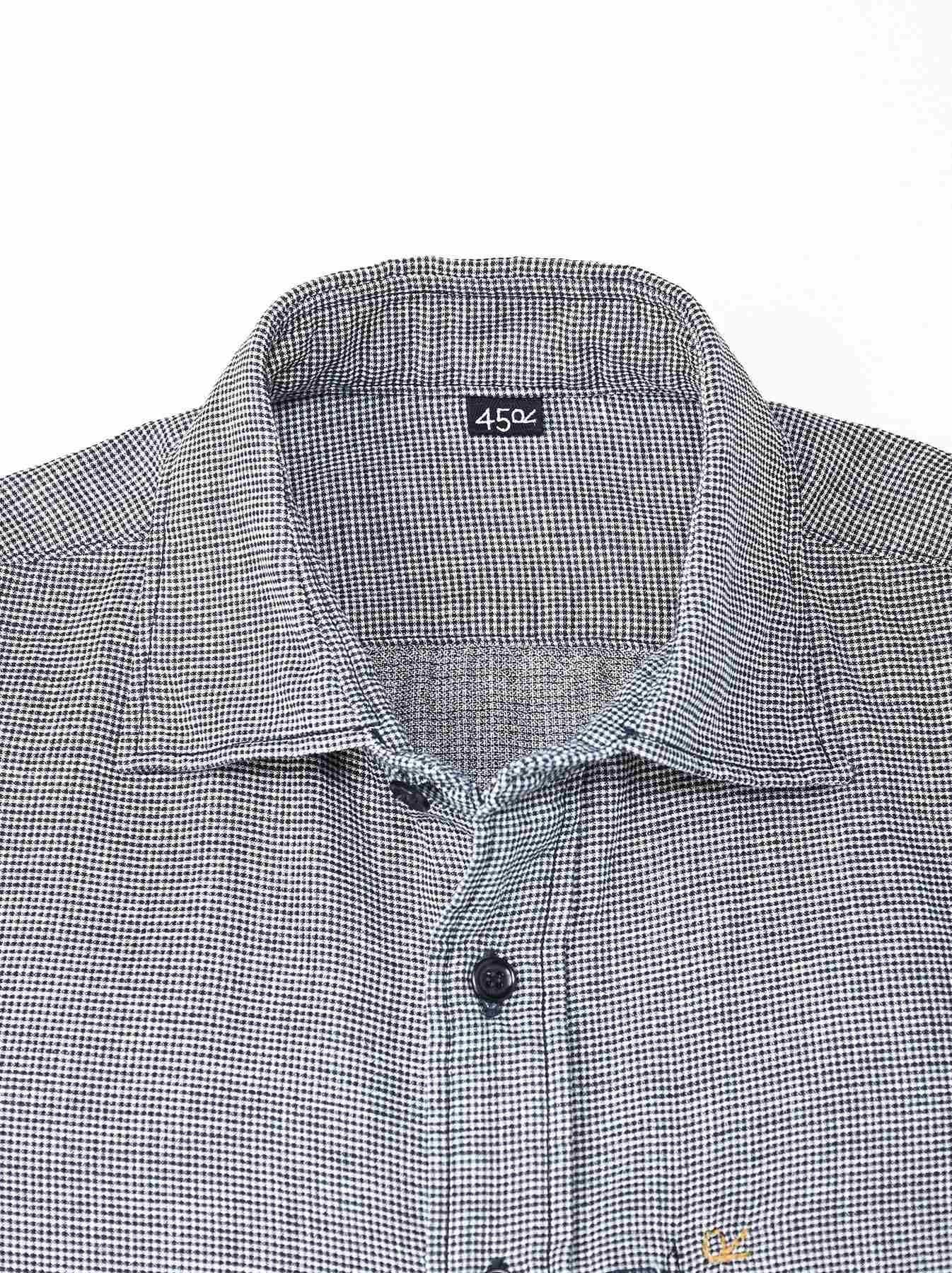 Indigo Double Cloth 908 Regular Shirt-12