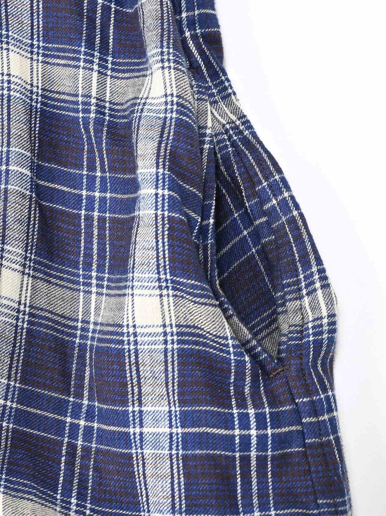 Indigo Twill Double Cloth Shirt Dress-11