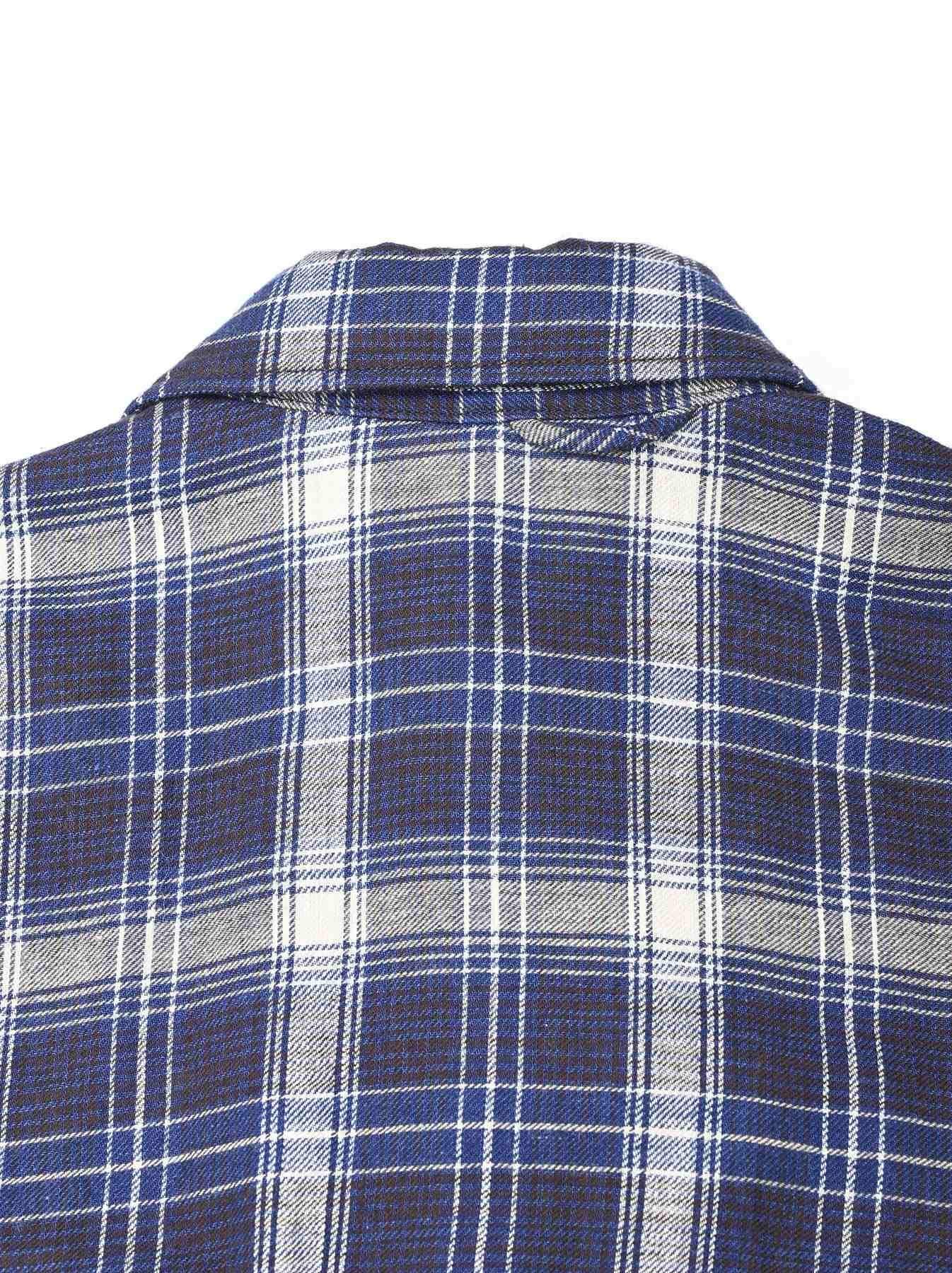 Indigo Twill Double Cloth Shirt Dress-8
