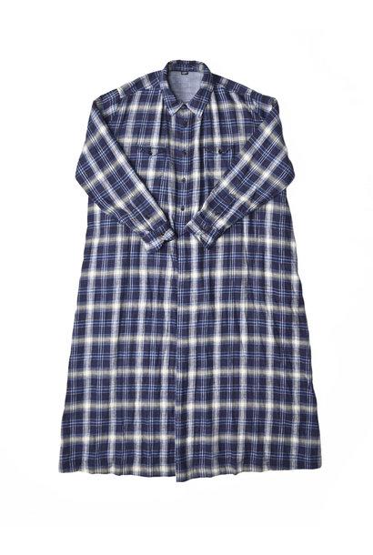 Indigo Twill Double Cloth Shirt Dress