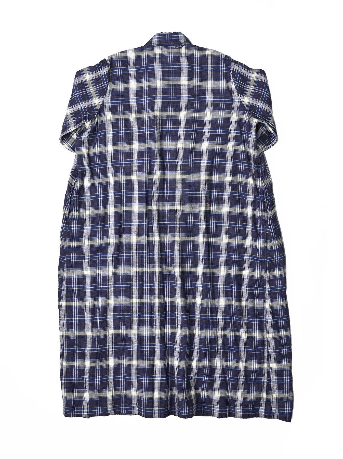 Indigo Twill Double Cloth Shirt Dress-5