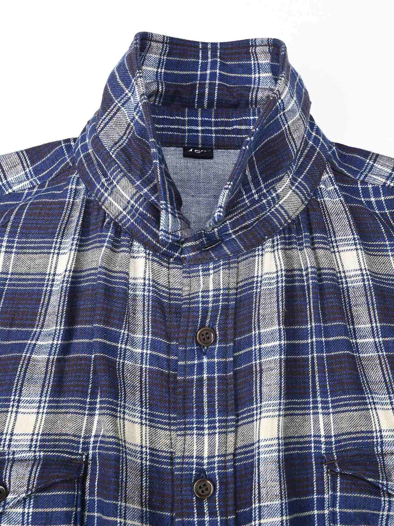 Indigo Twill Double Cloth Shirt Dress-7