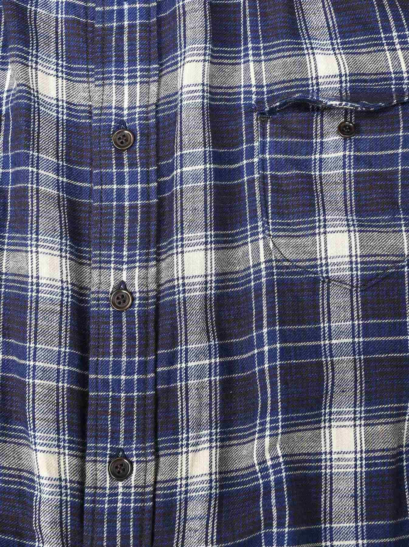 Indigo Twill Double Cloth Shirt Dress-9