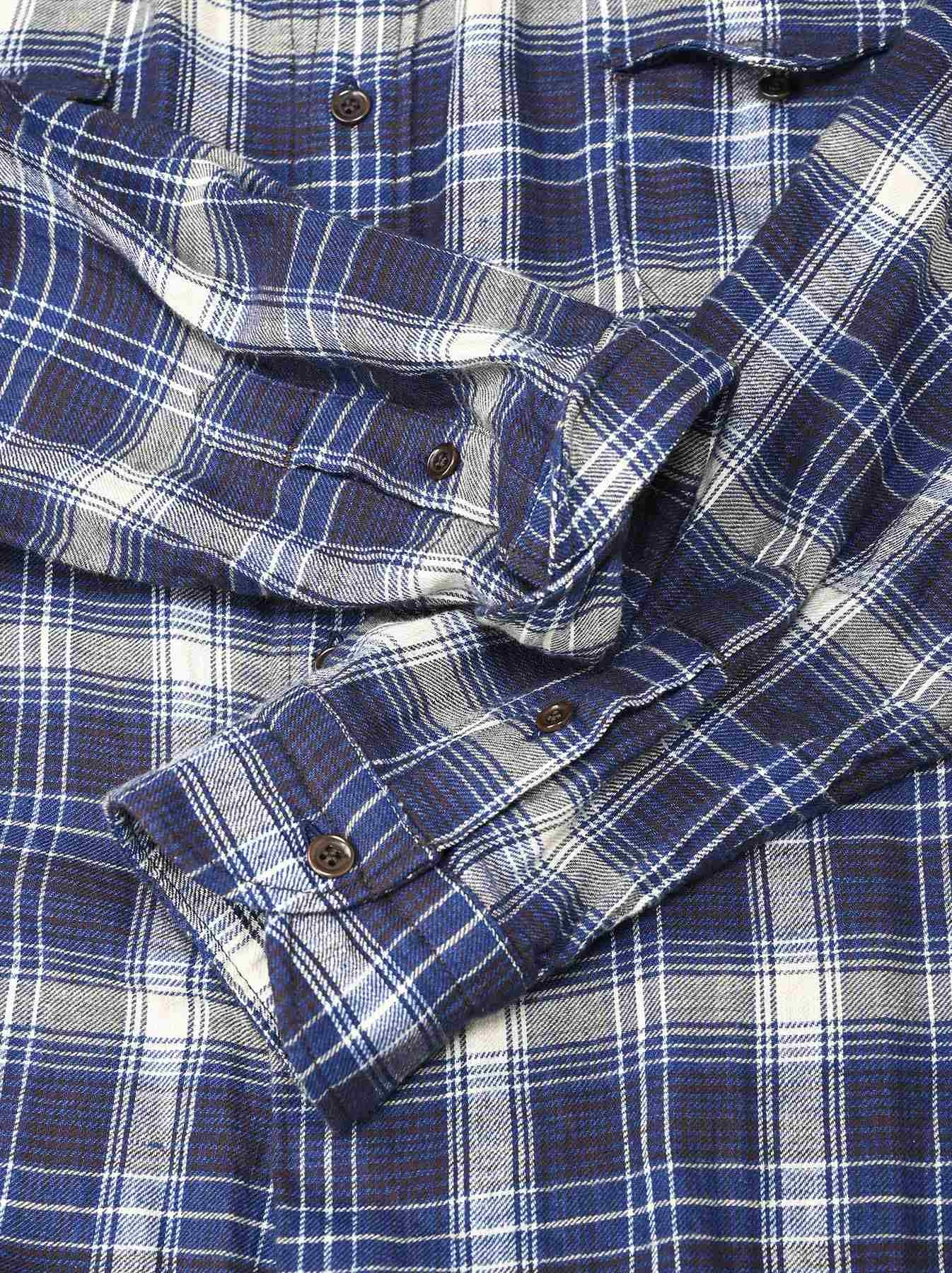 Indigo Twill Double Cloth Shirt Dress-10