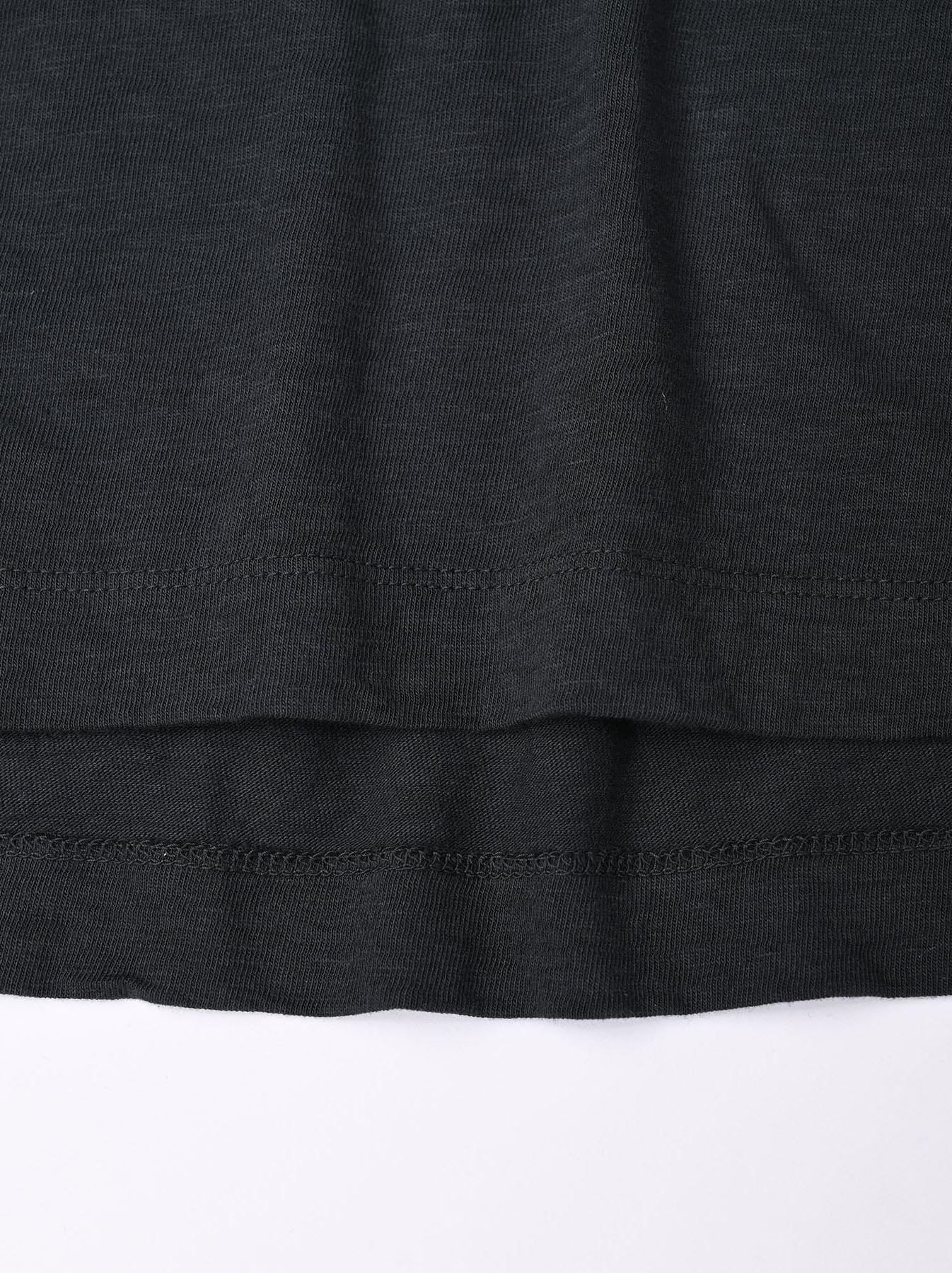 Zimbabwe Cotton Ocean Long-sleeved T-shirt-9