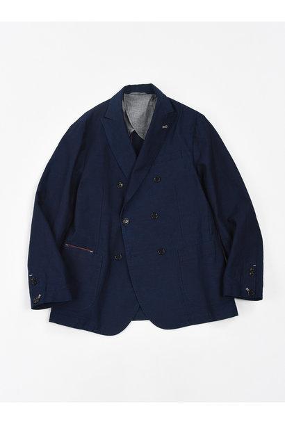 Indigo Mugi Yoko-shusi Soroe Double Breasted Jacket