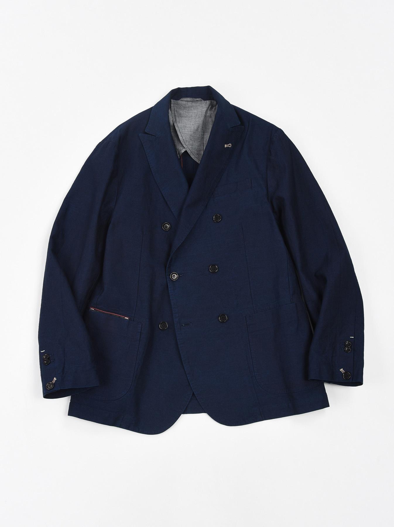 Indigo Mugi Yoko-shusi Soroe Double Breasted Jacket-1