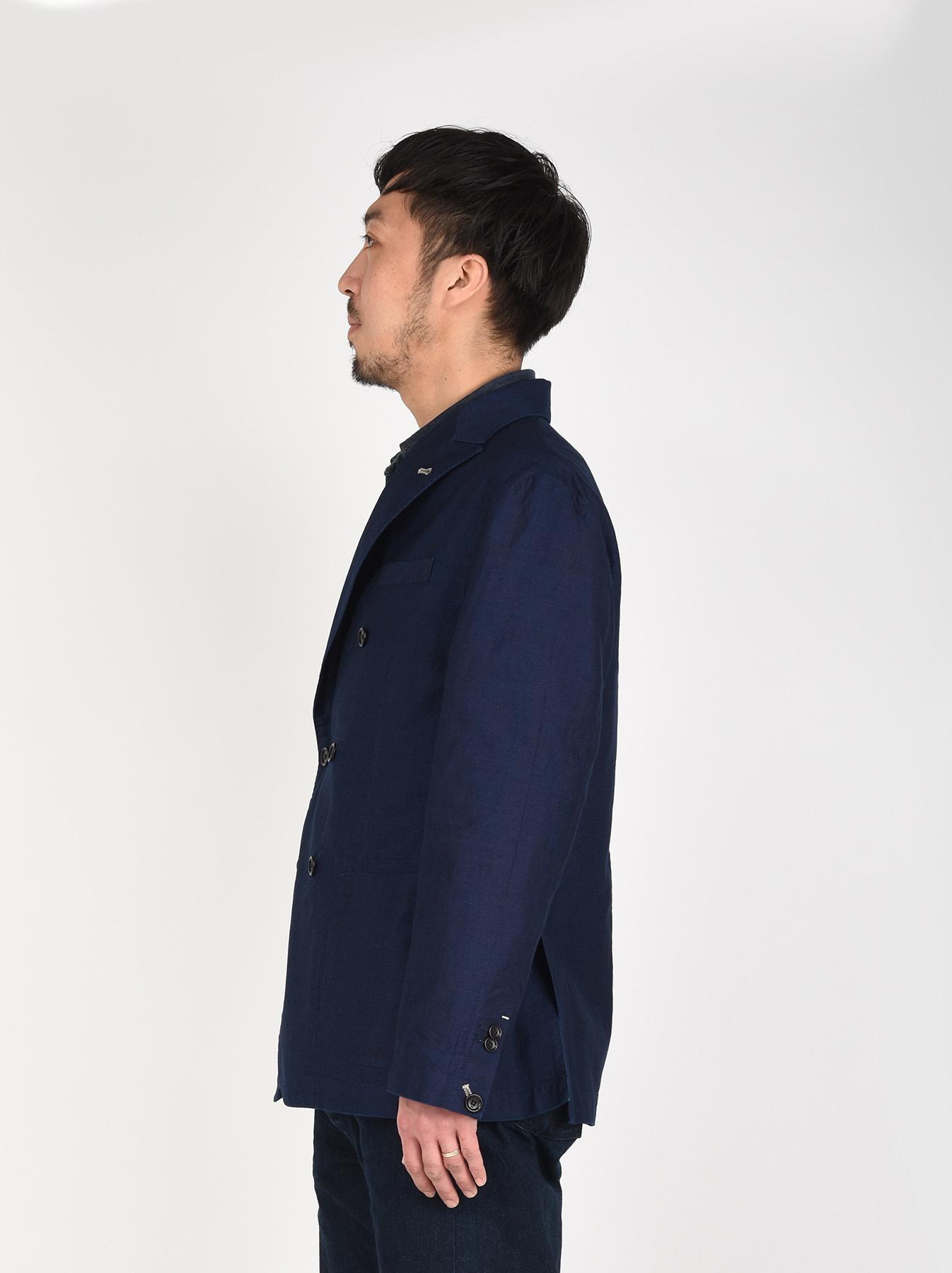 Indigo Mugi Yoko-shusi Soroe Double Breasted Jacket-4