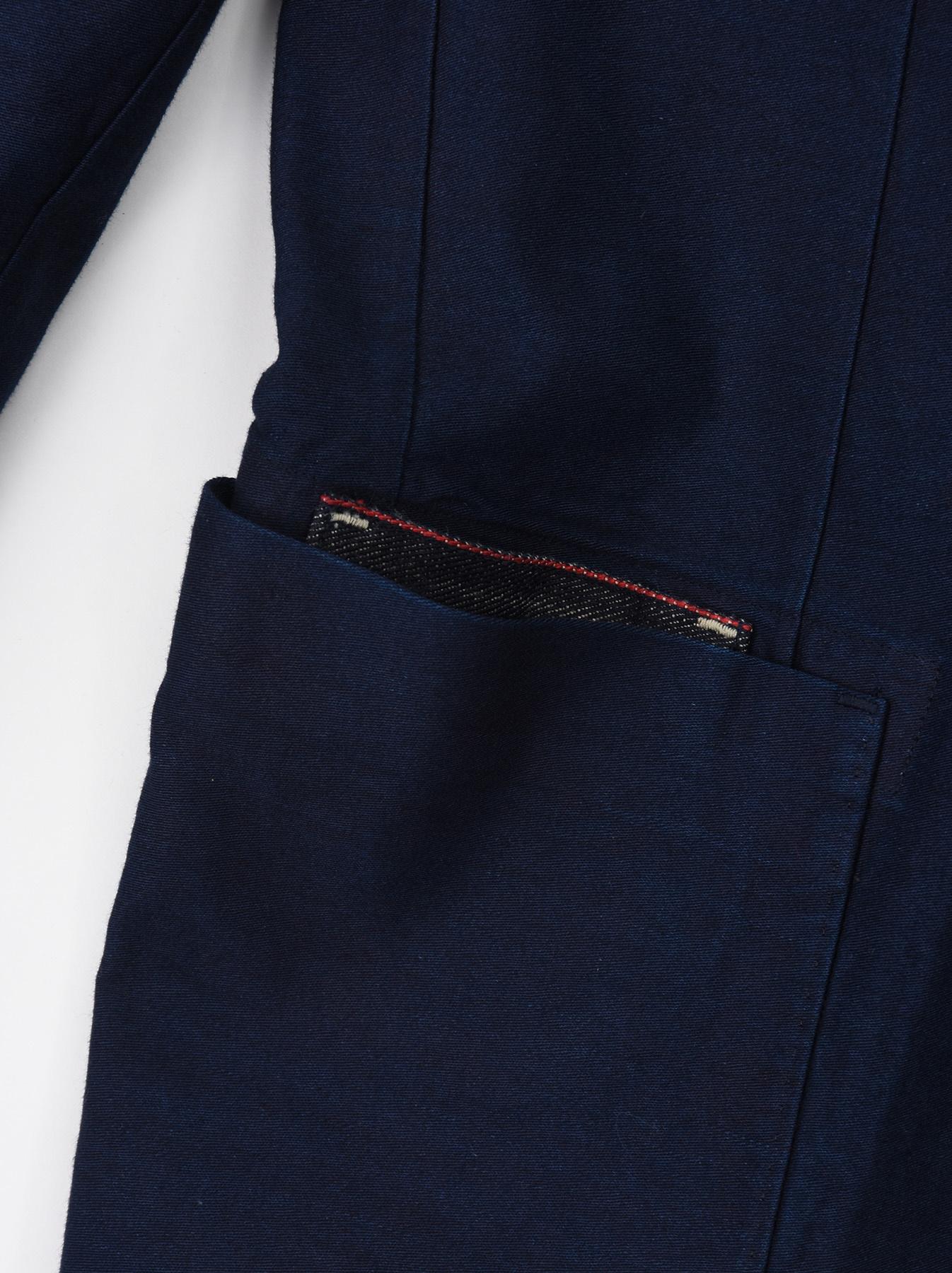 Indigo Mugi Yoko-shusi Soroe Double Breasted Jacket-8