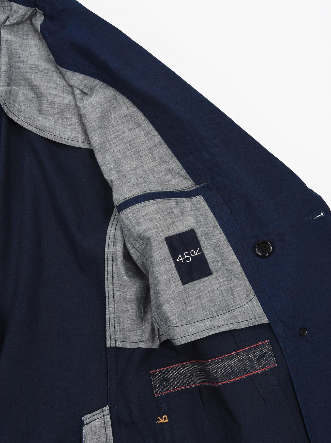 Indigo Mugi Yoko-shusi Soroe Double Breasted Jacket-10