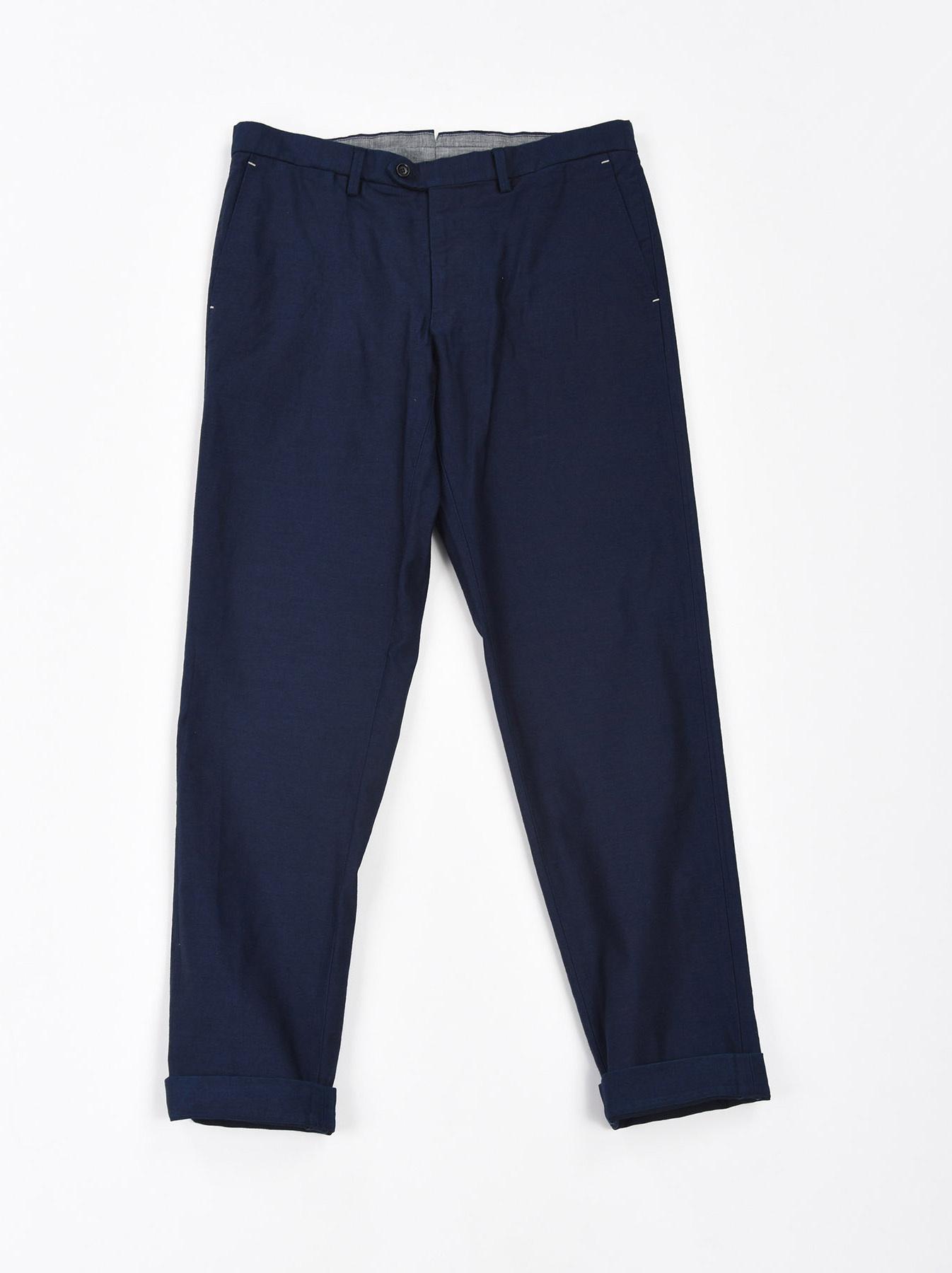 WH Indigo Mugi Yoko-shusi Soroe Pants-1