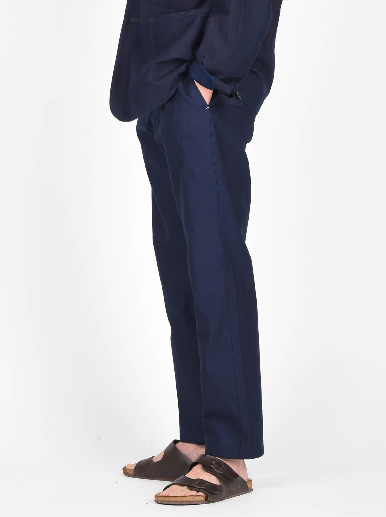 WH Indigo Mugi Yoko-shusi Soroe Pants-4