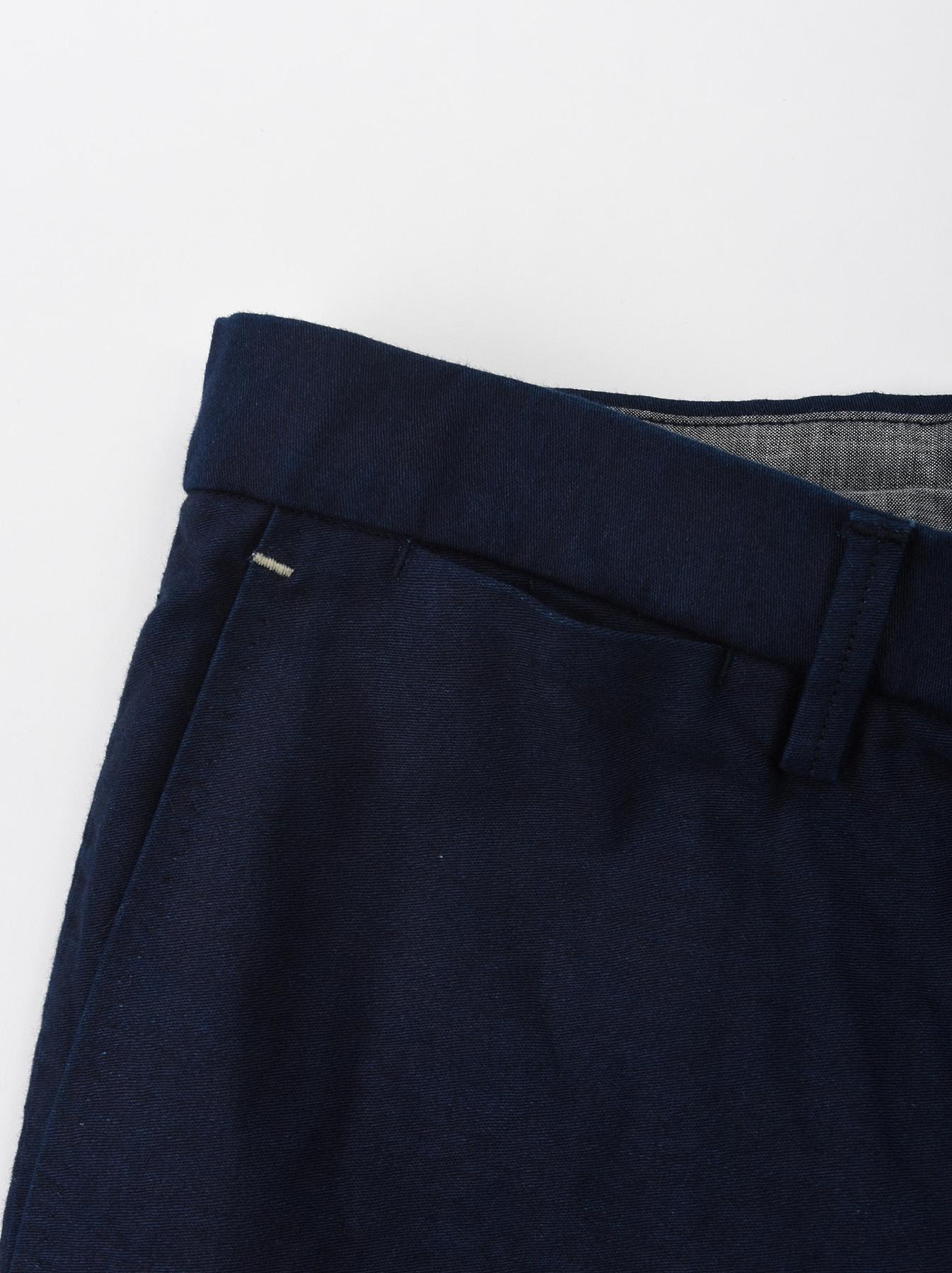 WH Indigo Mugi Yoko-shusi Soroe Pants-8