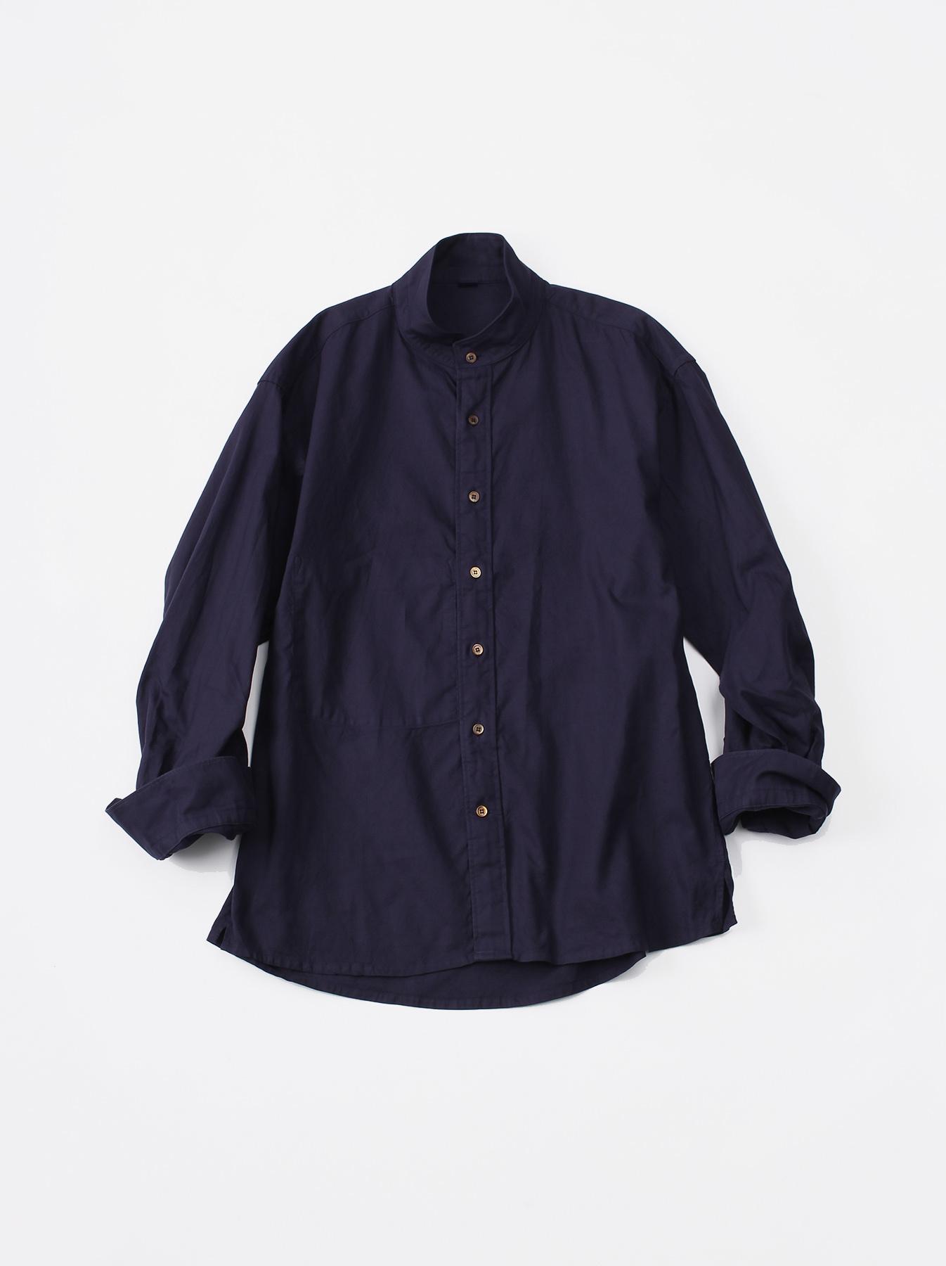 Oxford Stand Collar Shirt-1