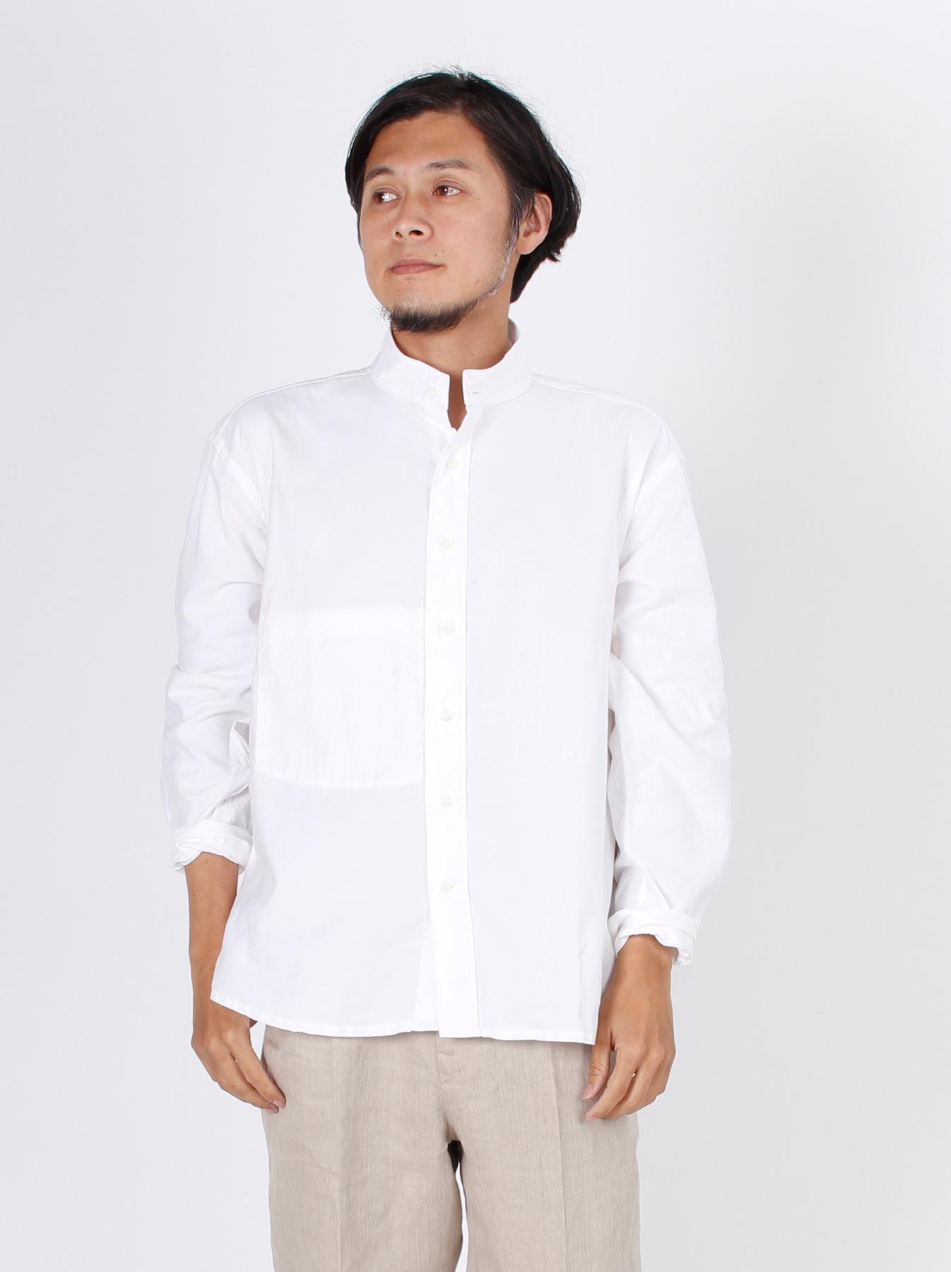 Oxford Stand Collar Shirt-4