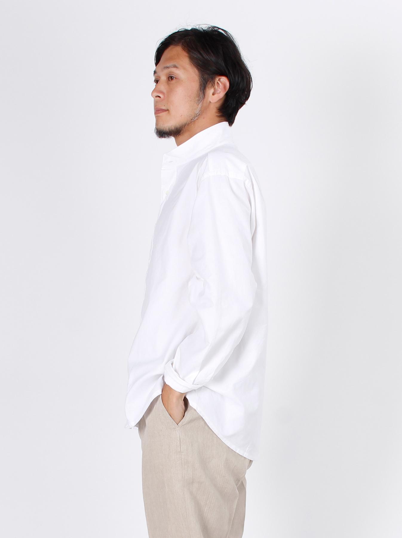 Oxford Stand Collar Shirt-5