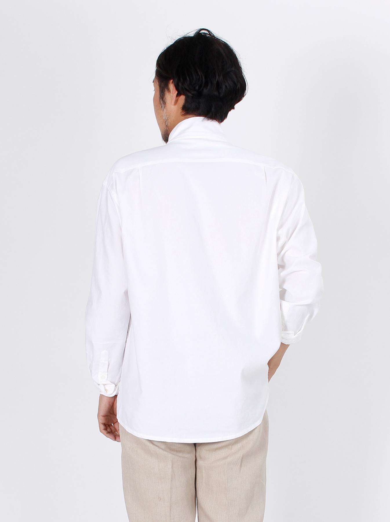 Oxford Stand Collar Shirt-6