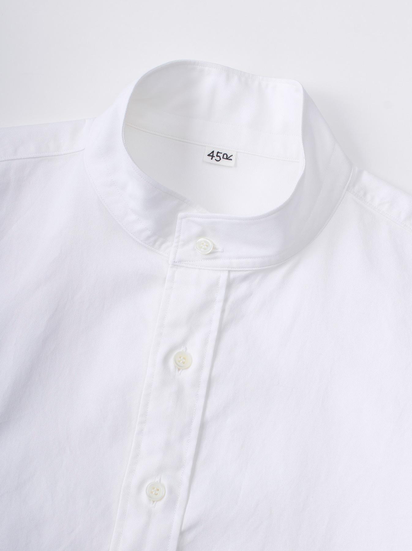 Oxford Stand Collar Shirt-8