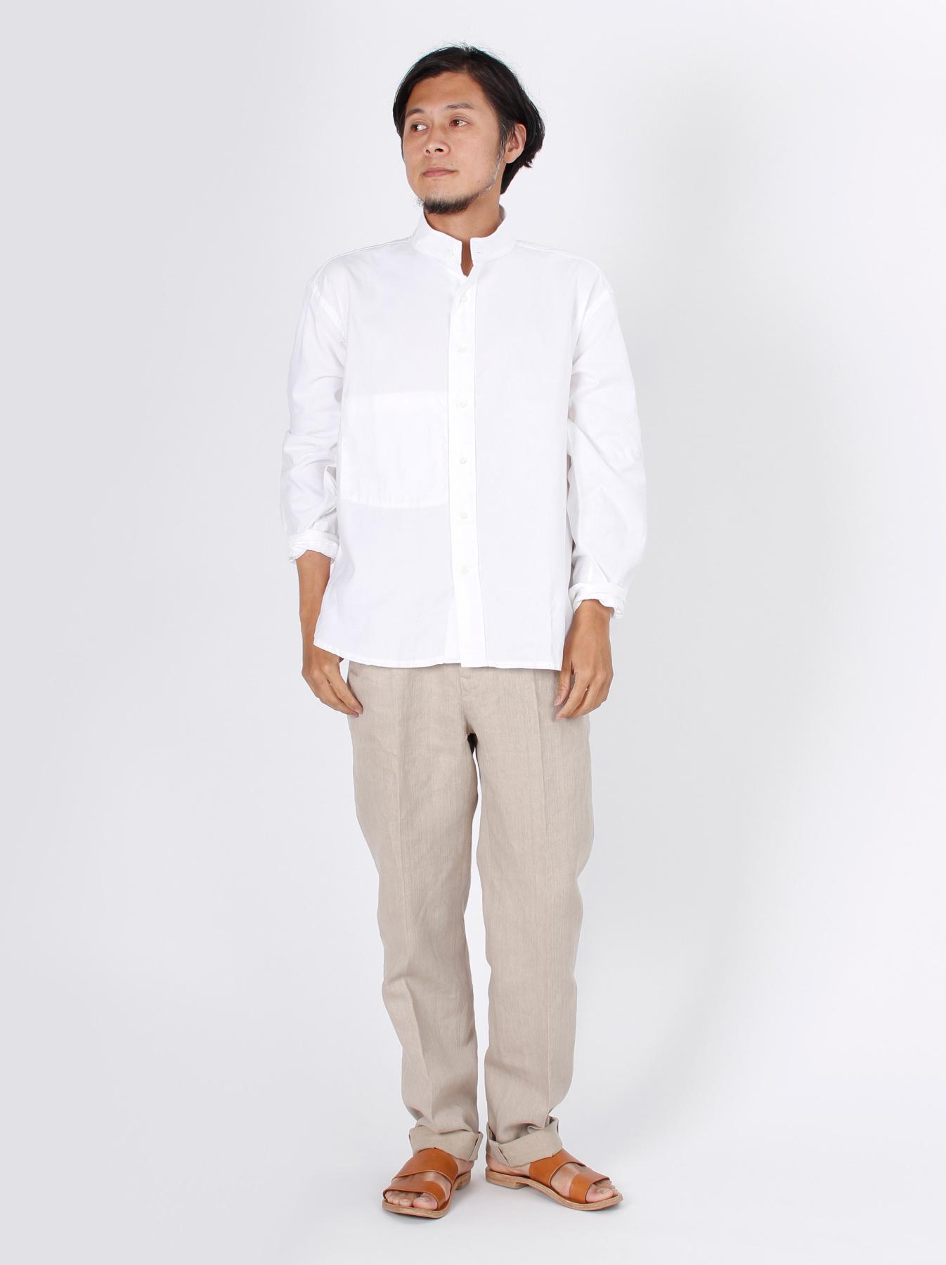 Oxford Stand Collar Shirt-2