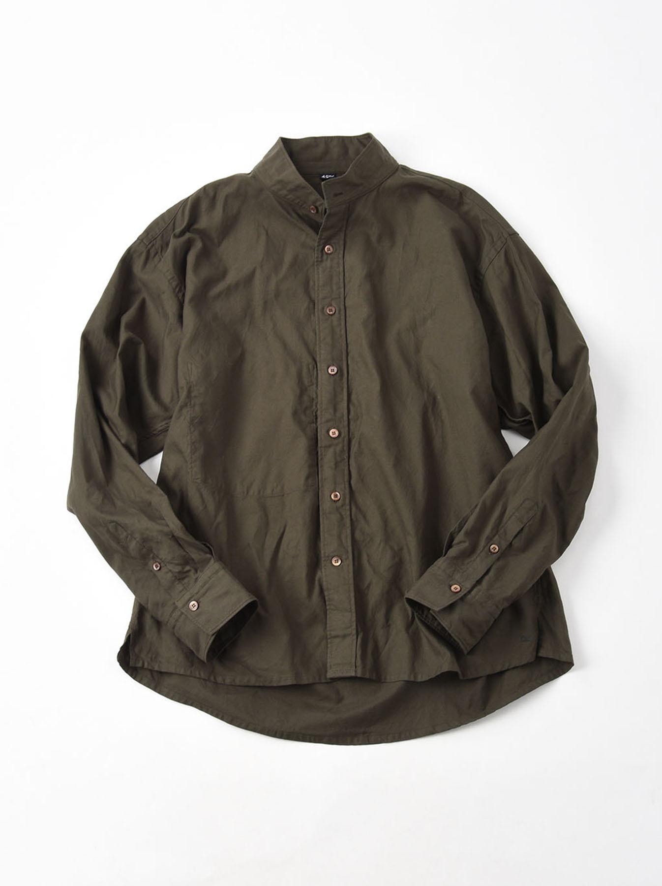 Oxford Stand Collar Shirt-3