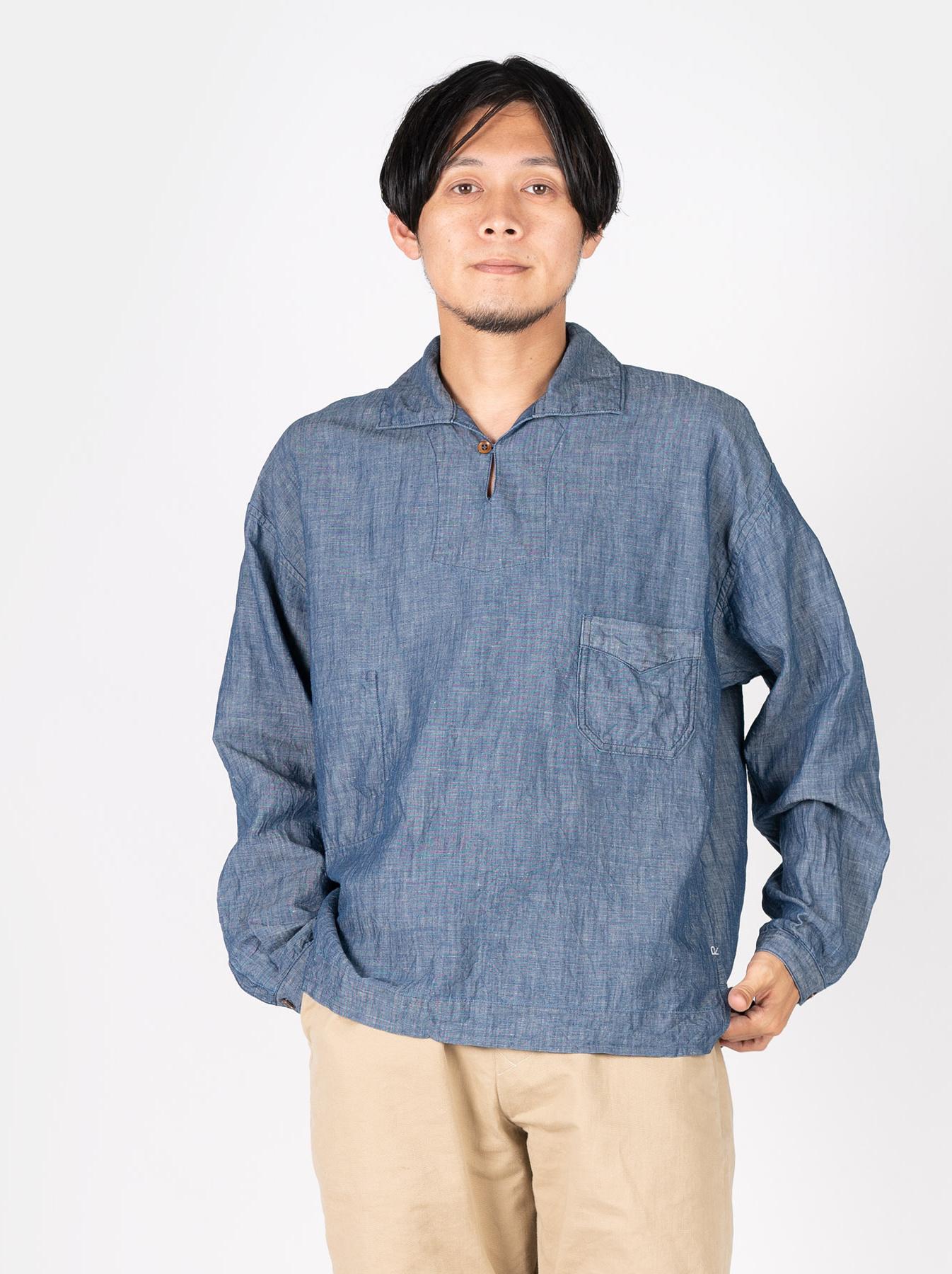 WH Cotton Linen Umahiko Pullover Shirt-3