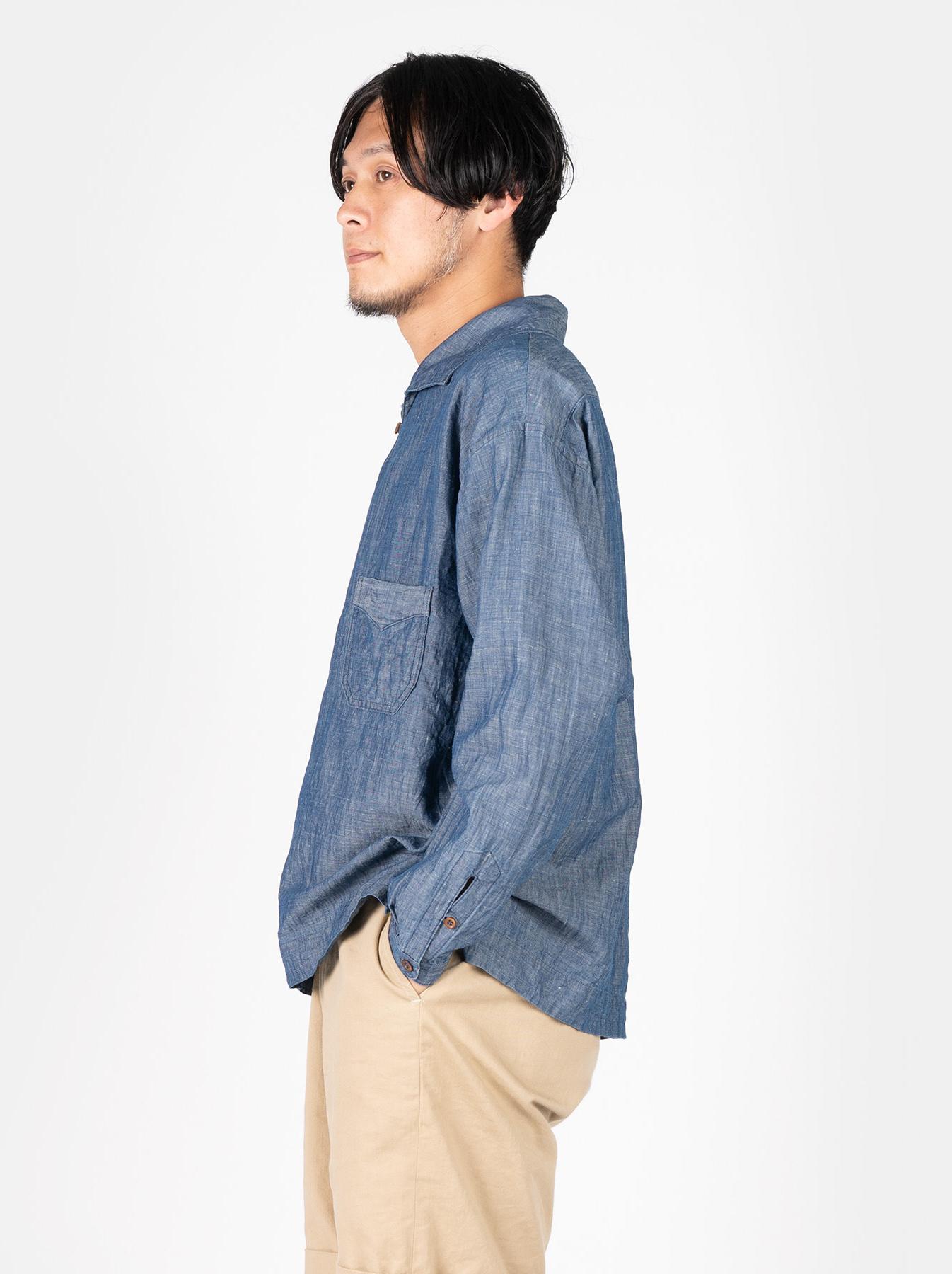 WH Cotton Linen Umahiko Pullover Shirt-4
