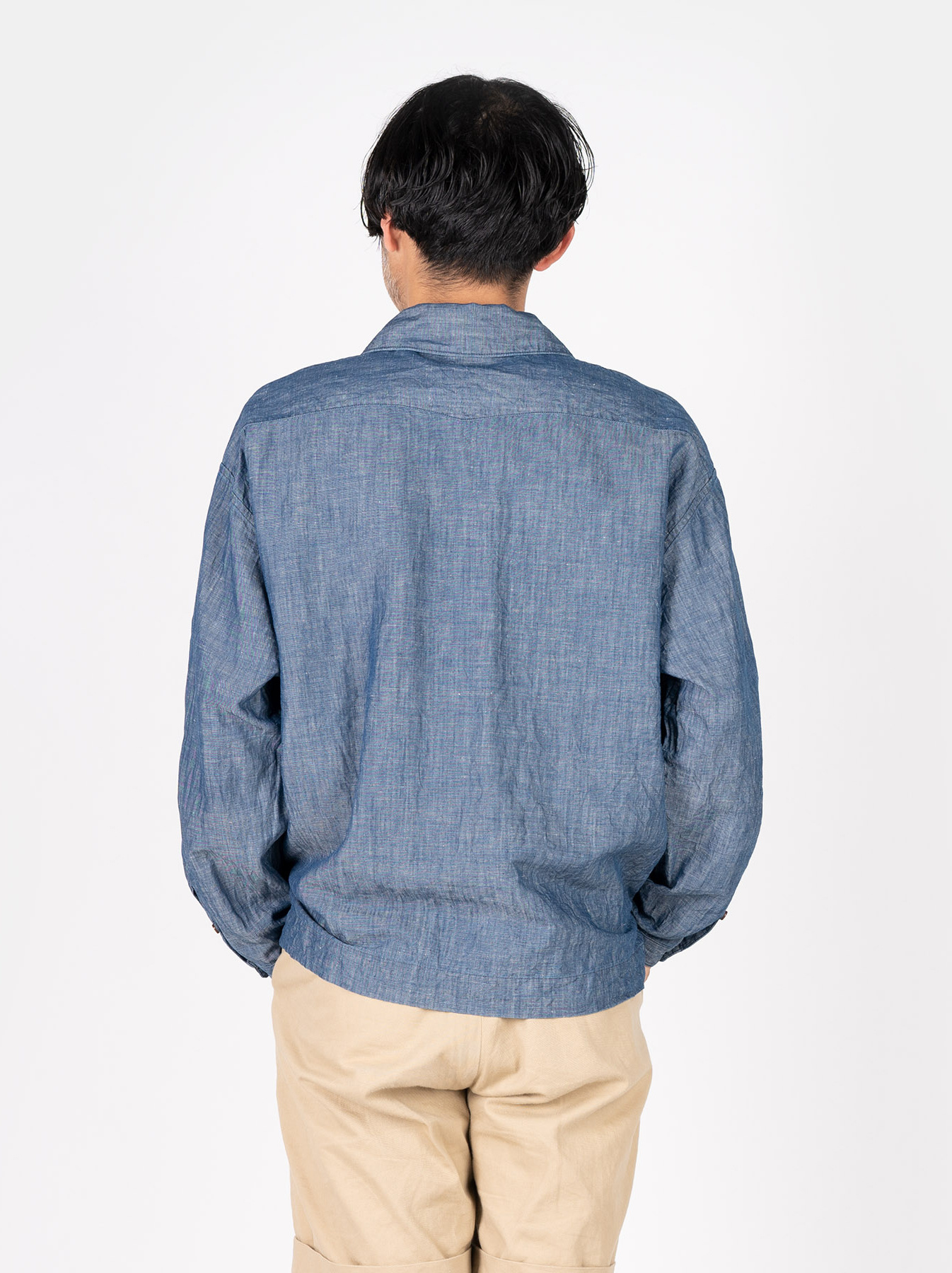 WH Cotton Linen Umahiko Pullover Shirt-5