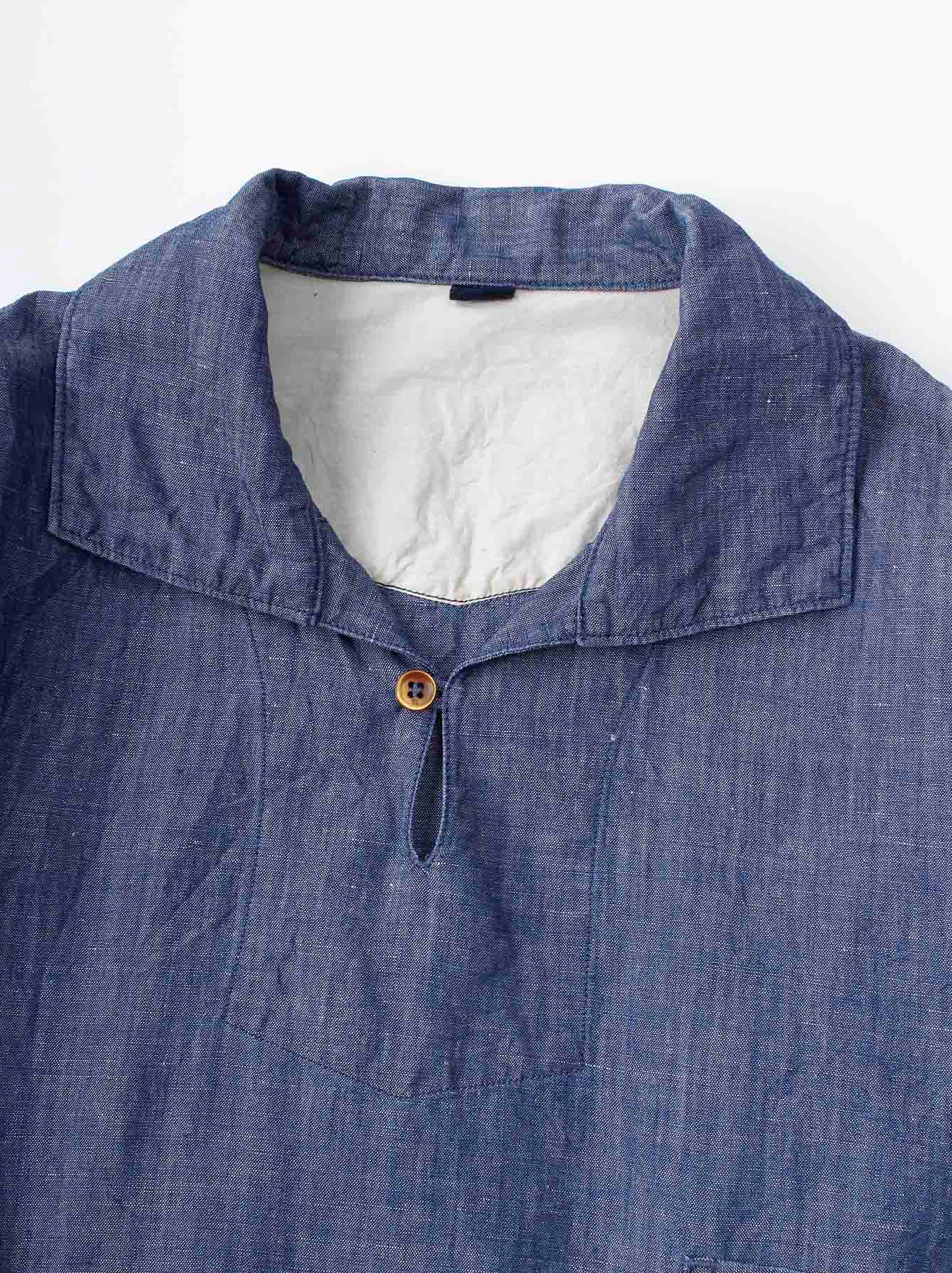 WH Cotton Linen Umahiko Pullover Shirt-7