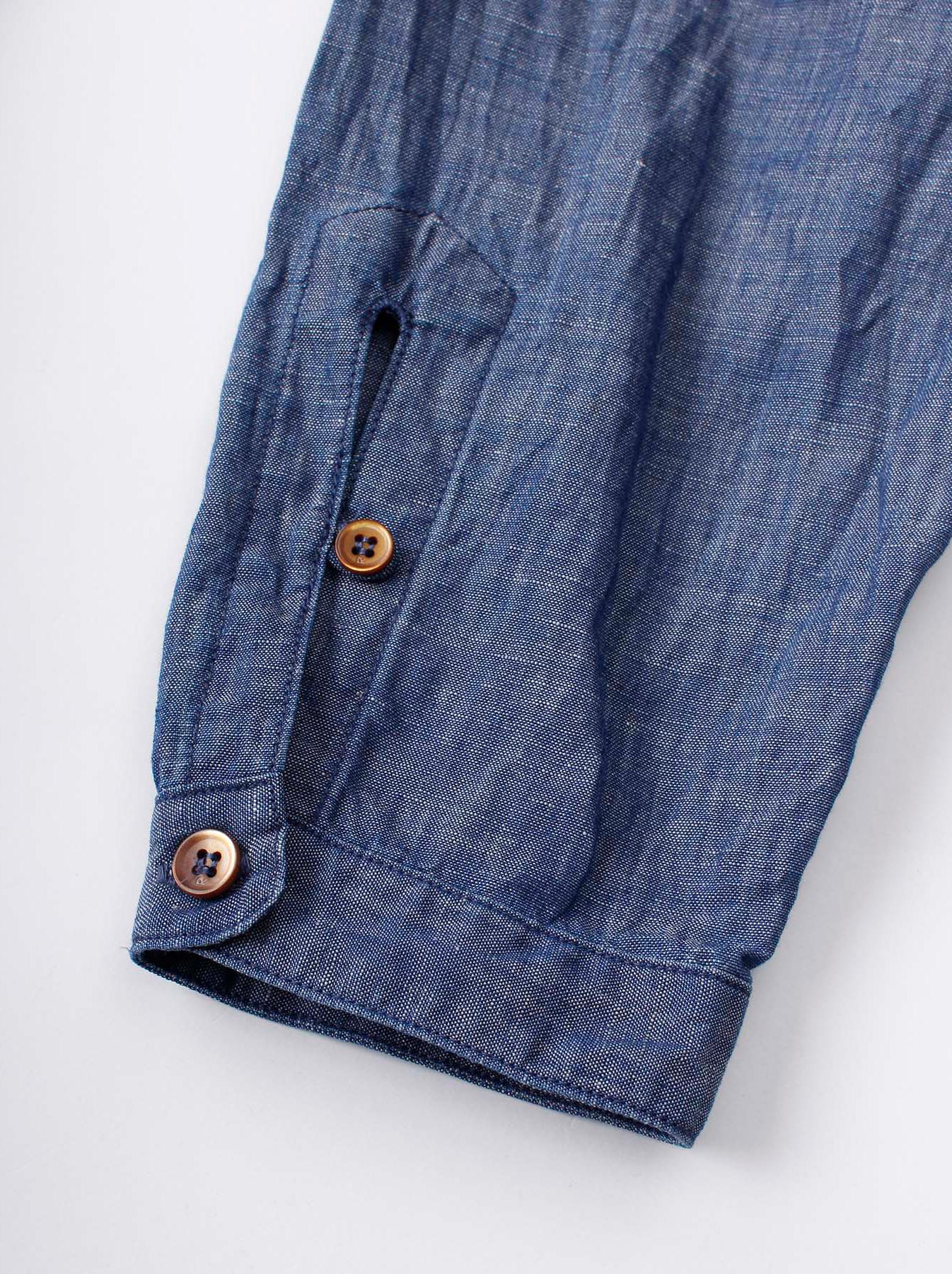 WH Cotton Linen Umahiko Pullover Shirt-9