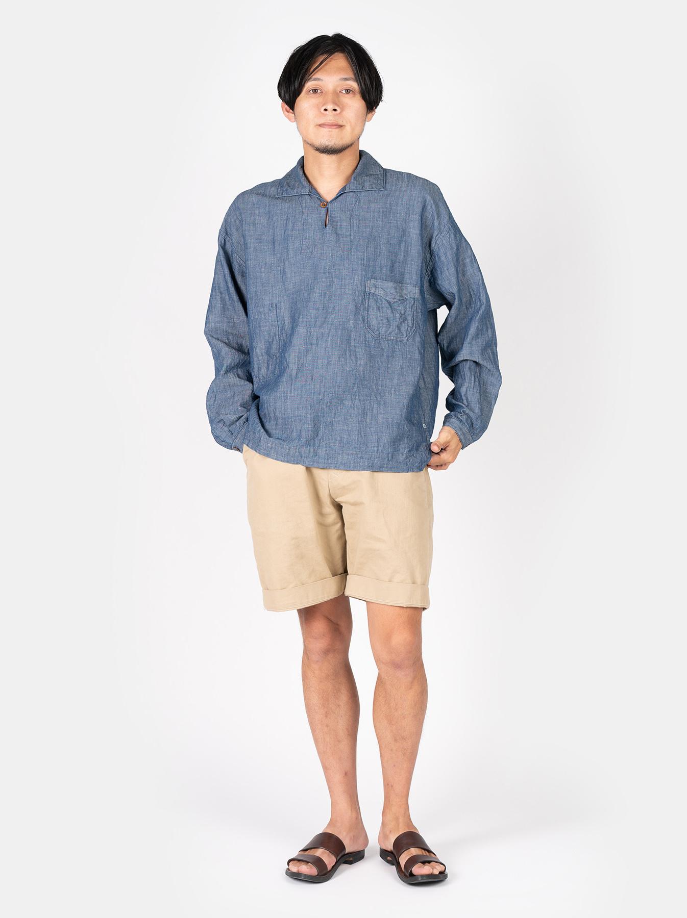 WH Cotton Linen Umahiko Pullover Shirt-2