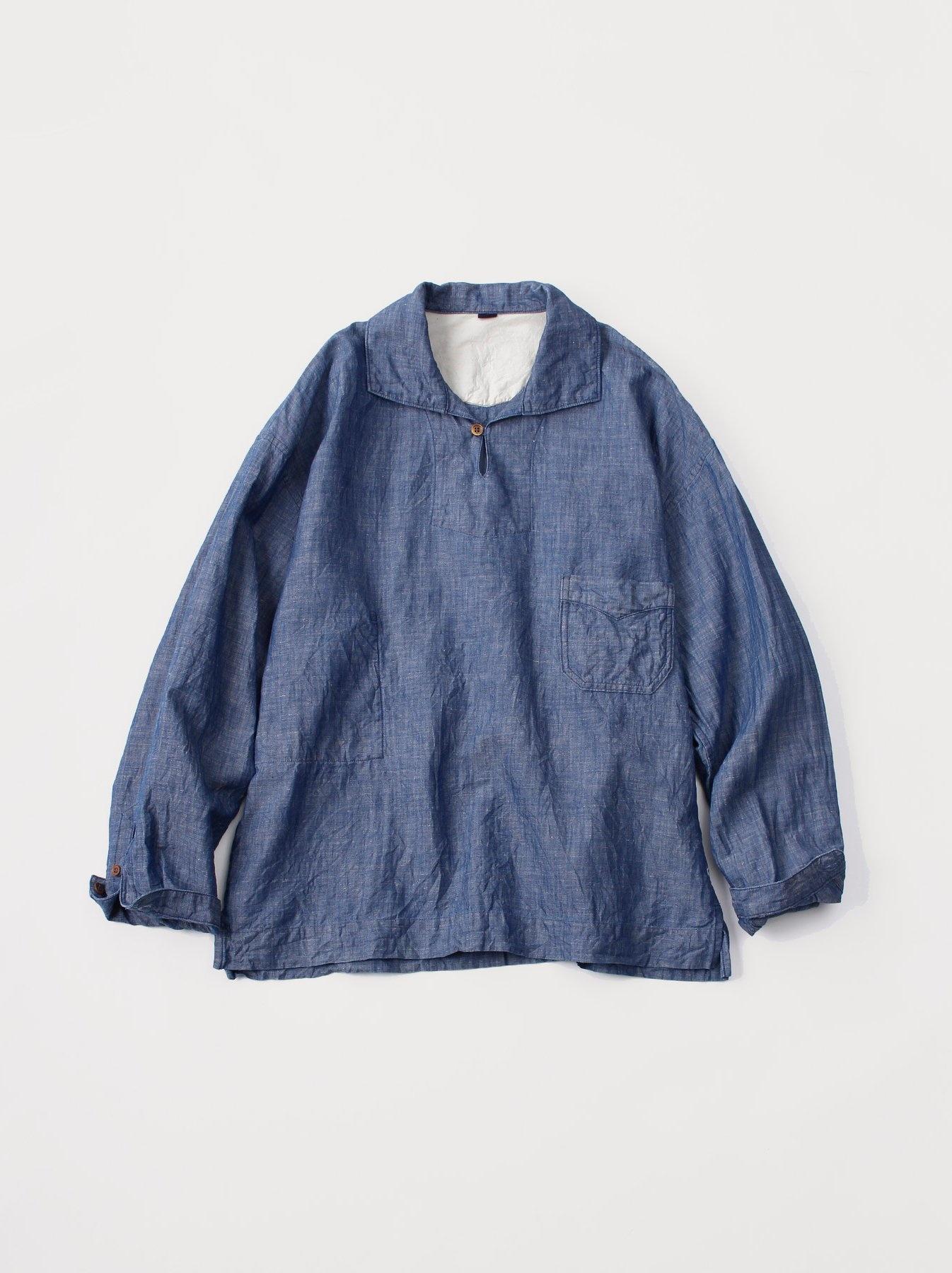 WH Cotton Linen Umahiko Pullover Shirt-1