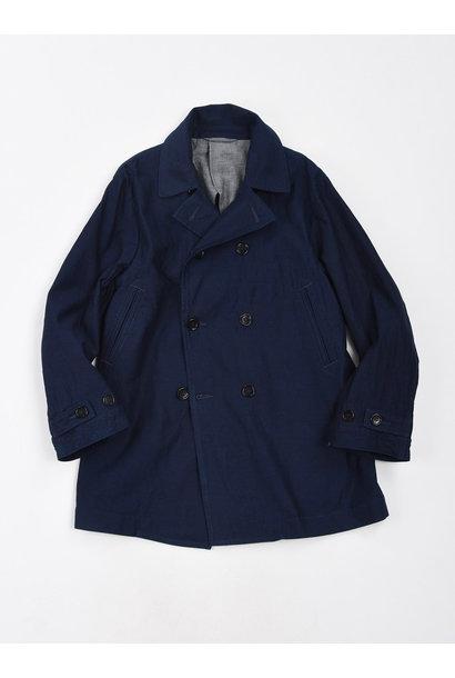 WH Indigo Mugi Yoko-shusi P-coat