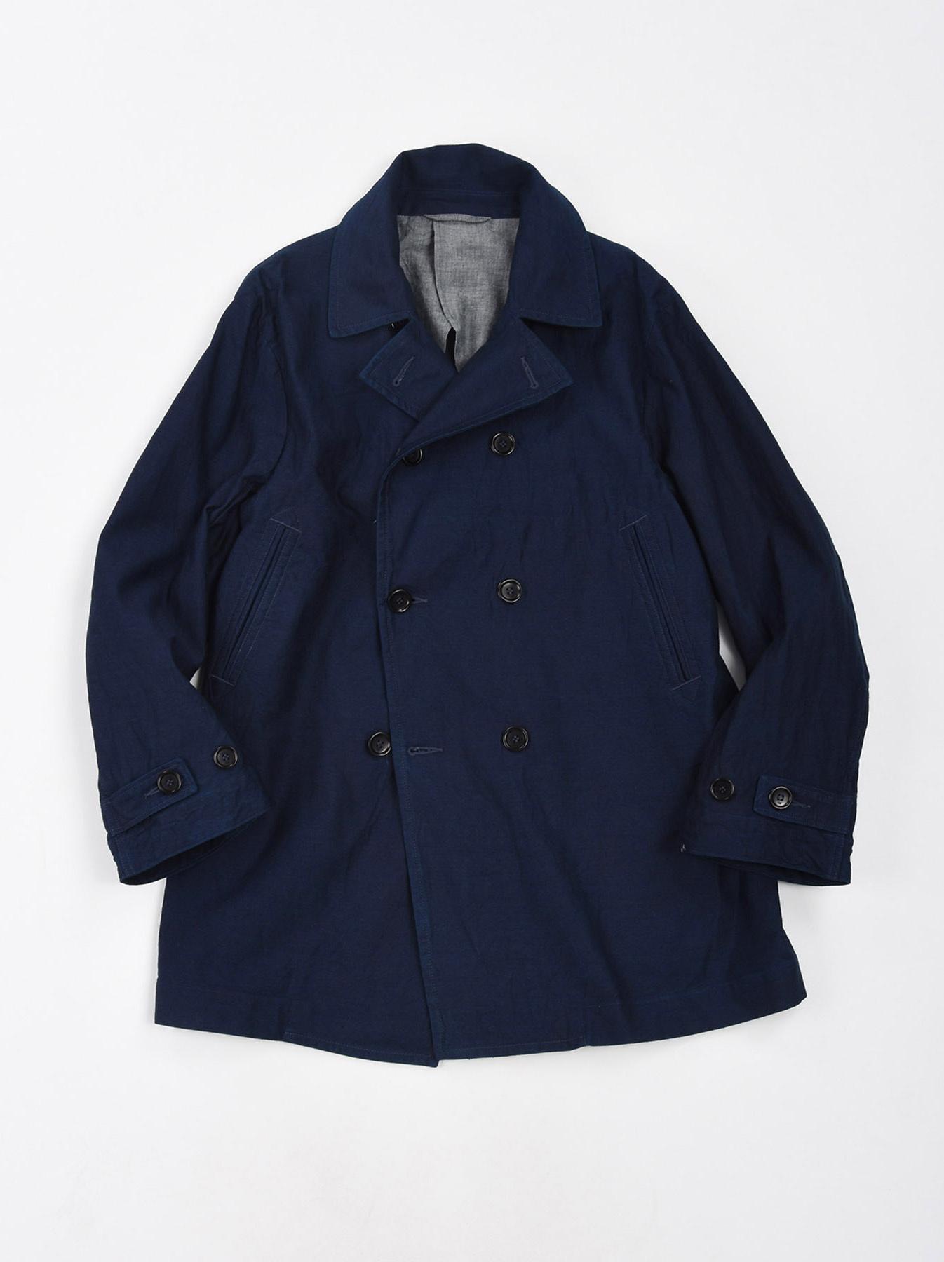 WH Indigo Mugi Yoko-shusi P-coat-1