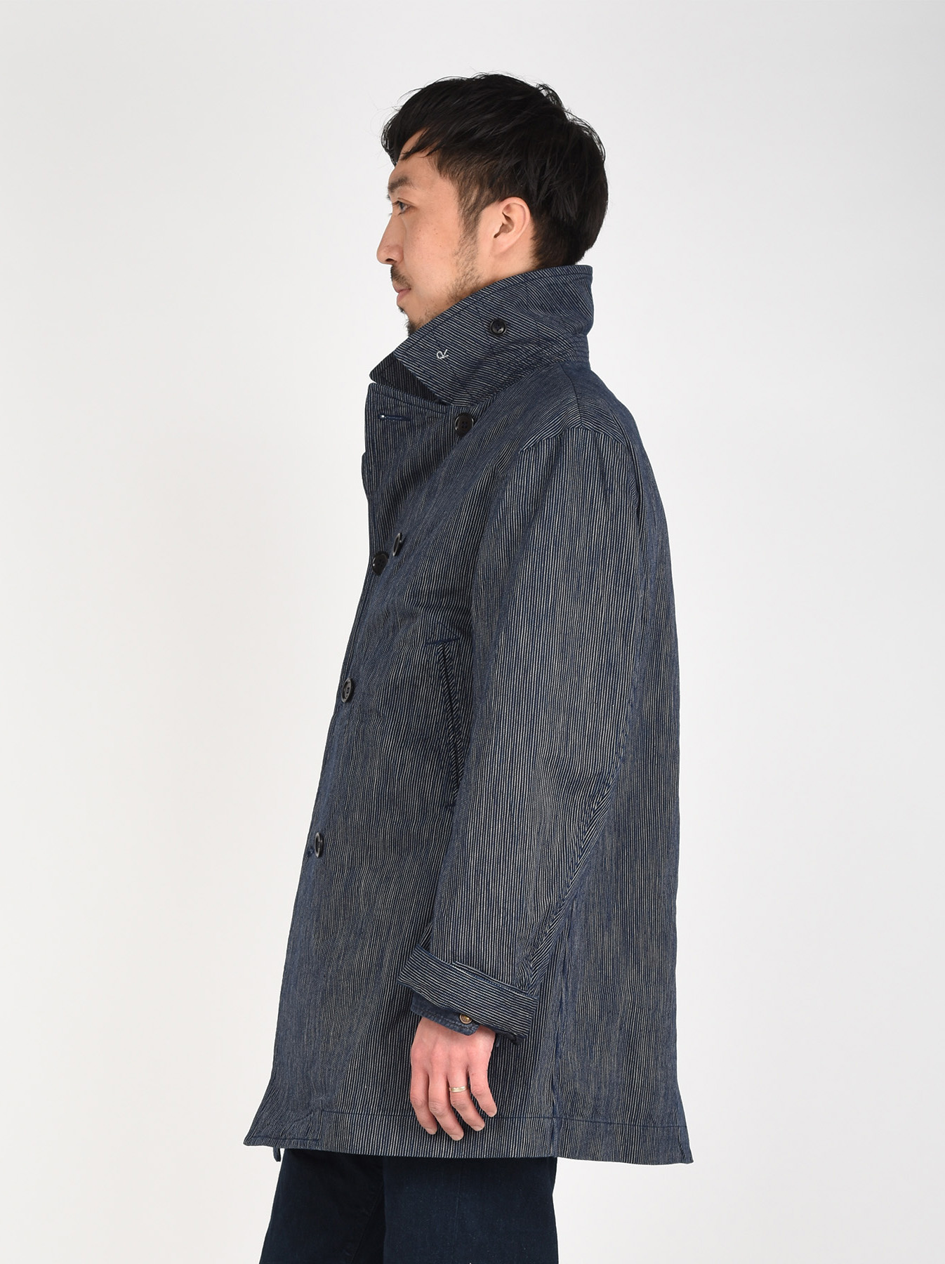 WH Indigo Mugi Yoko-shusi P-coat-5