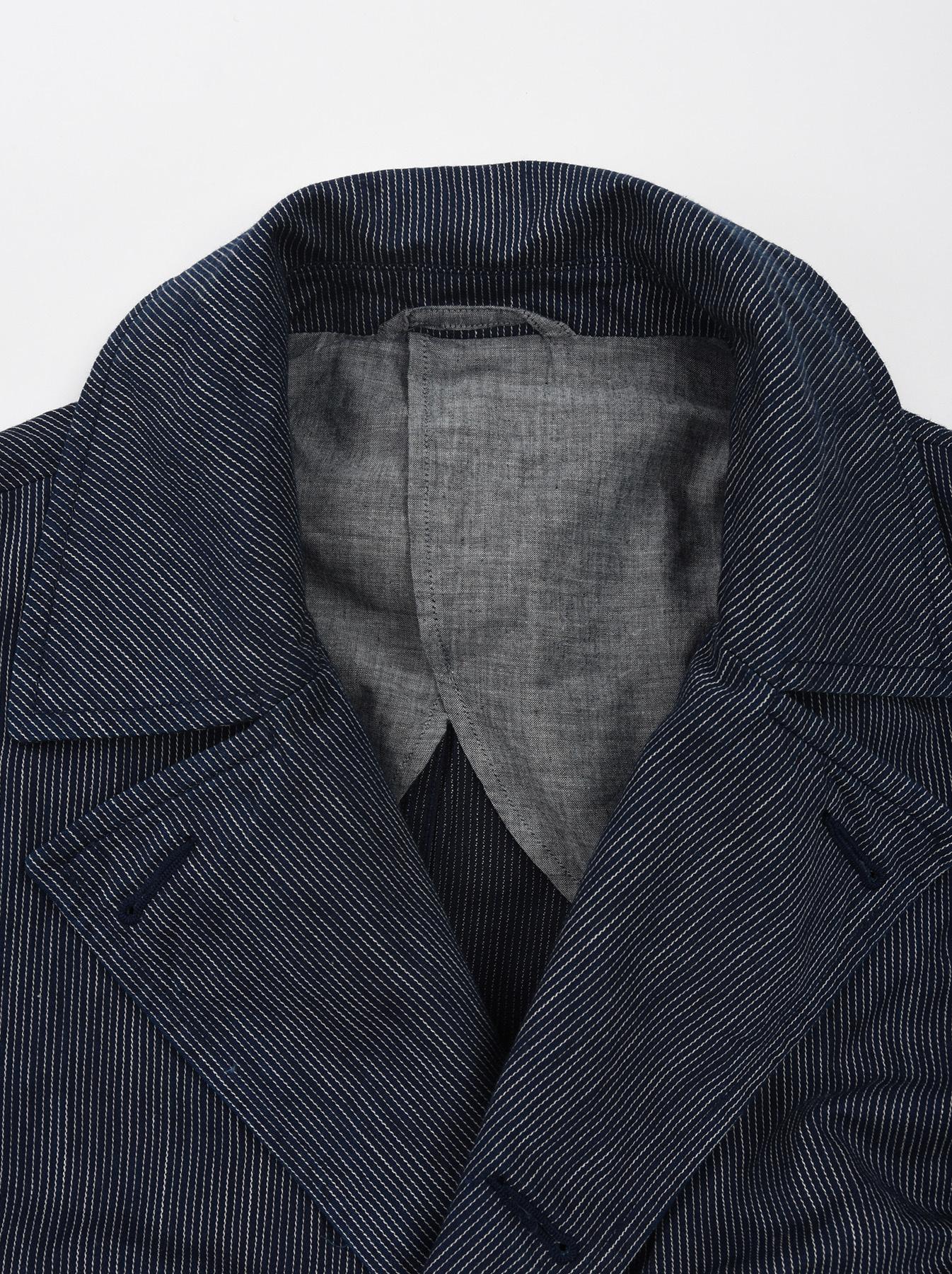 WH Indigo Mugi Yoko-shusi P-coat-7