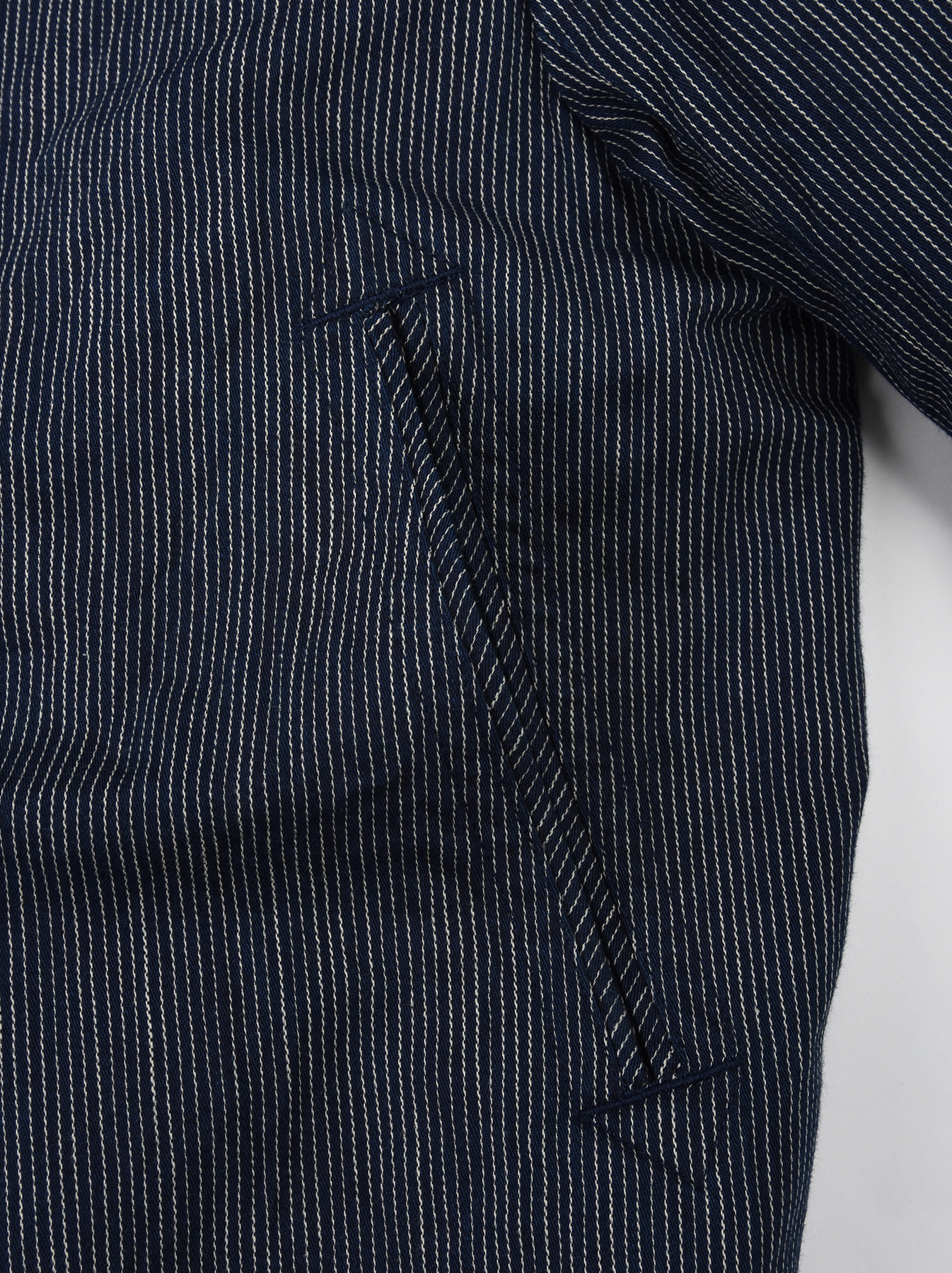 WH Indigo Mugi Yoko-shusi P-coat-12