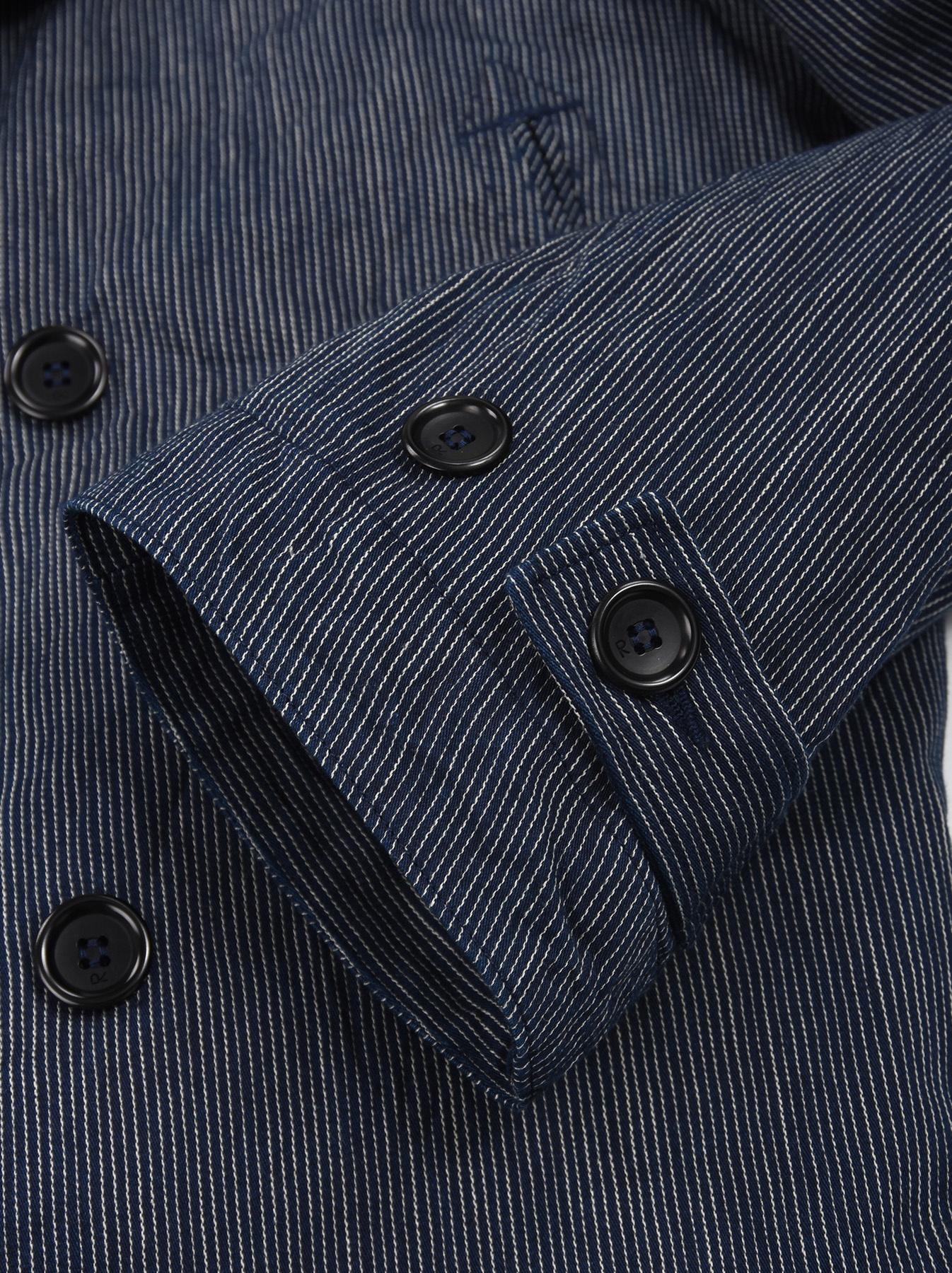 WH Indigo Mugi Yoko-shusi P-coat-11