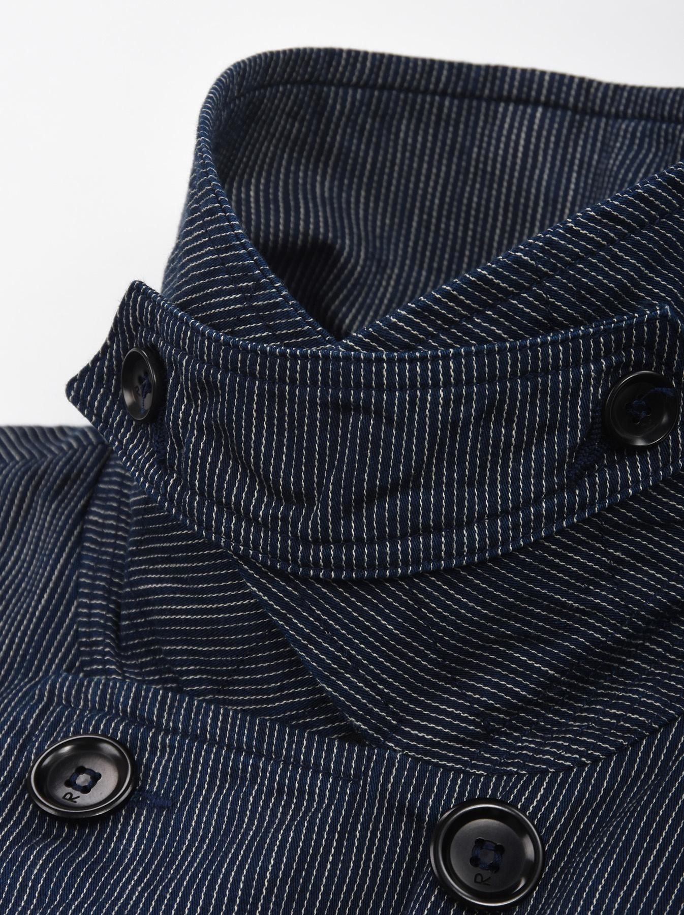 WH Indigo Mugi Yoko-shusi P-coat-9