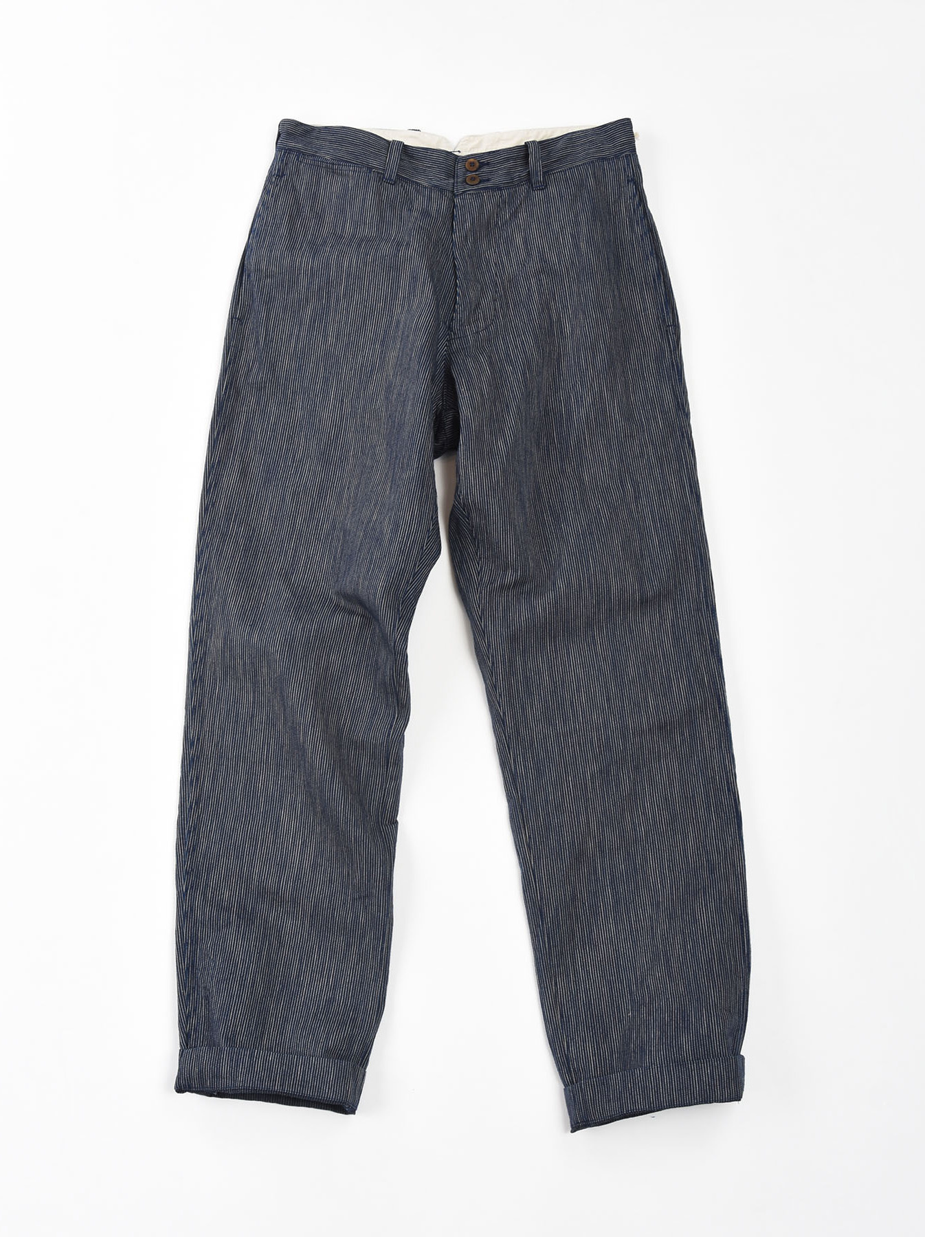 WH Indigo Mugi Yoko-shusi Work Pants-6
