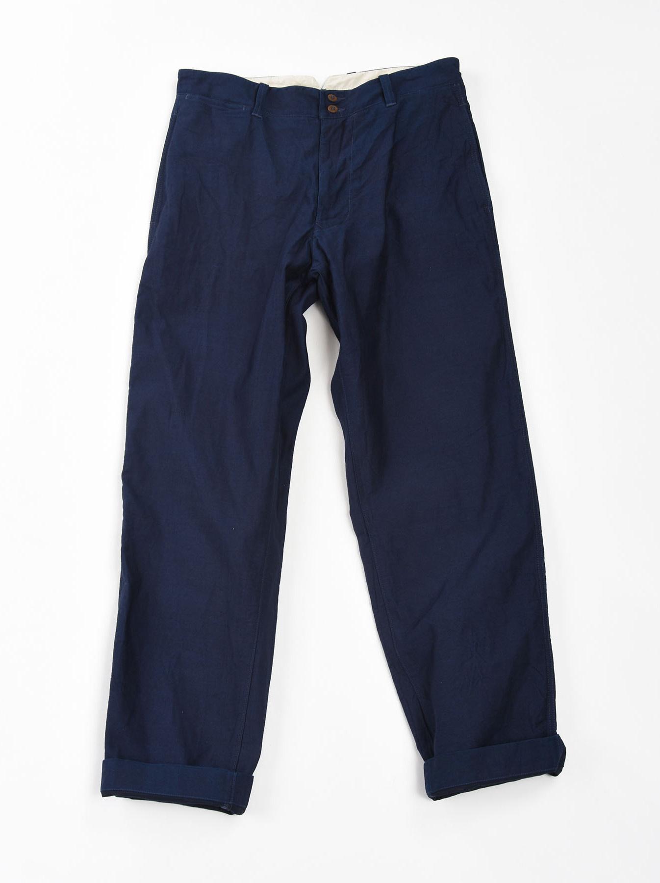 WH Indigo Mugi Yoko-shusi Work Pants-1