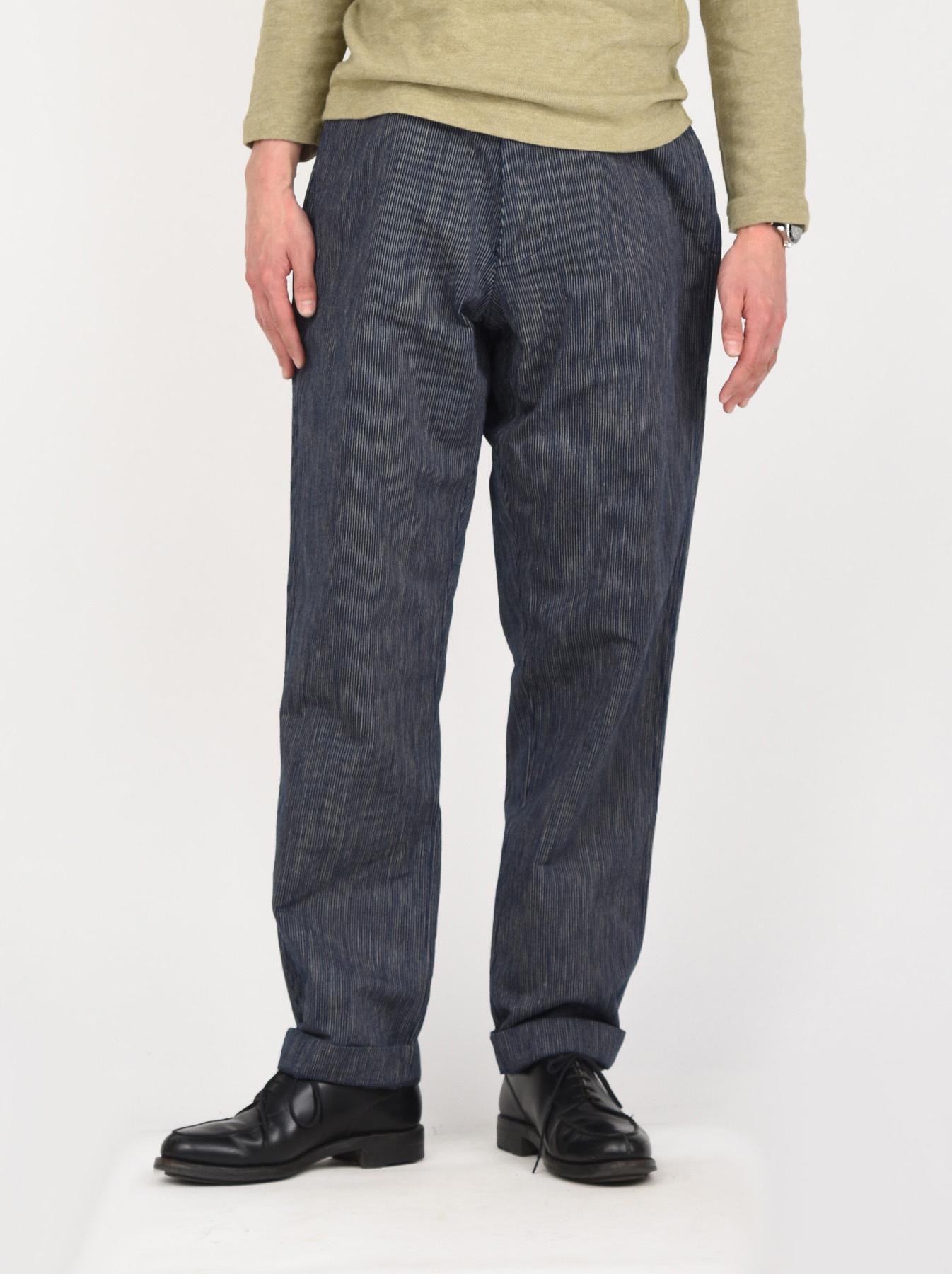 WH Indigo Mugi Yoko-shusi Work Pants-3