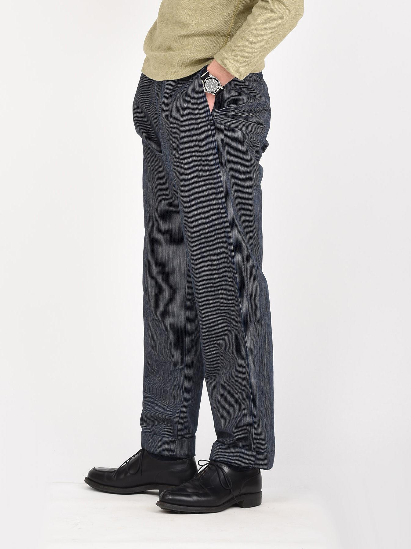 WH Indigo Mugi Yoko-shusi Work Pants-4