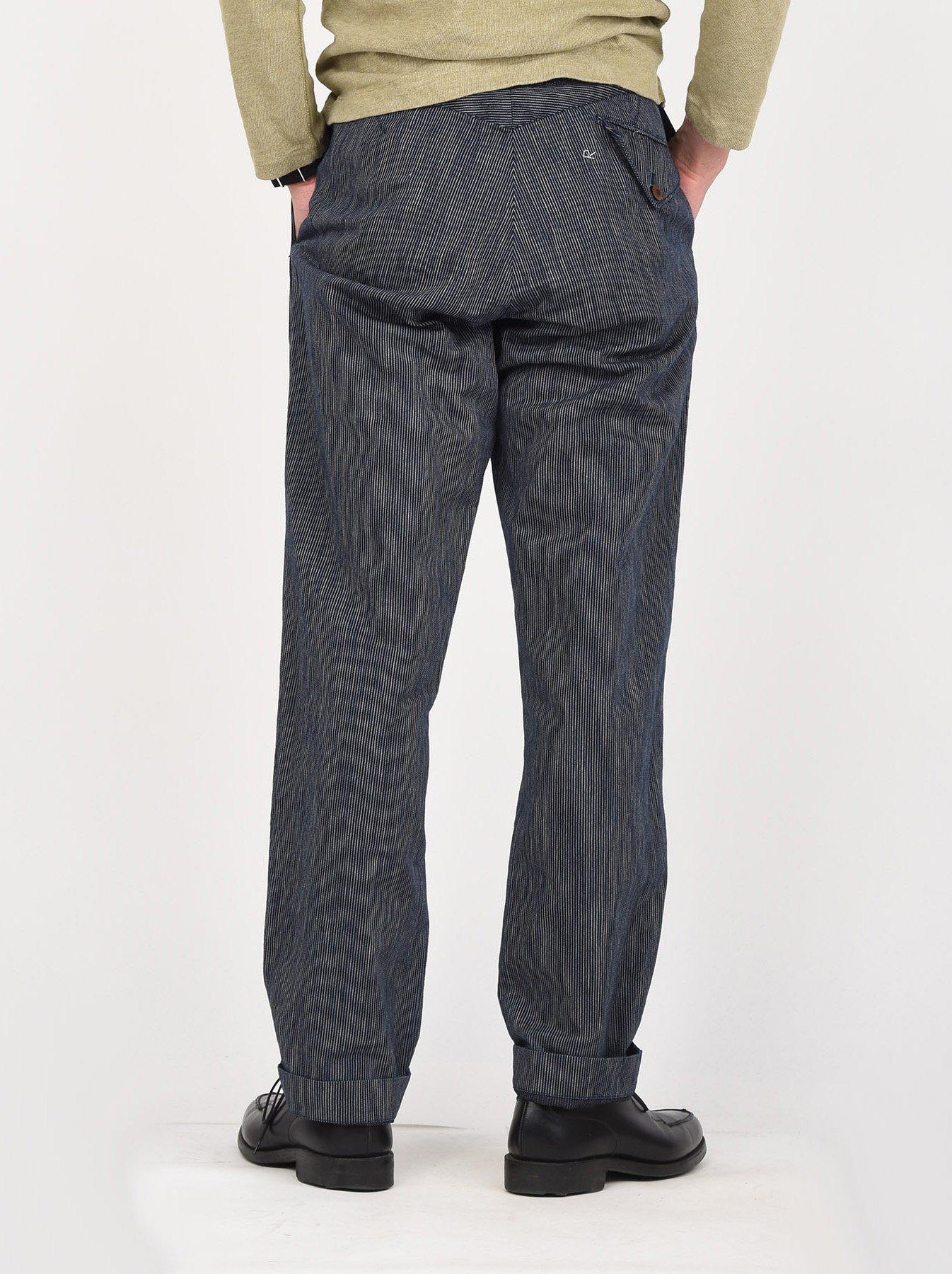 WH Indigo Mugi Yoko-shusi Work Pants-5