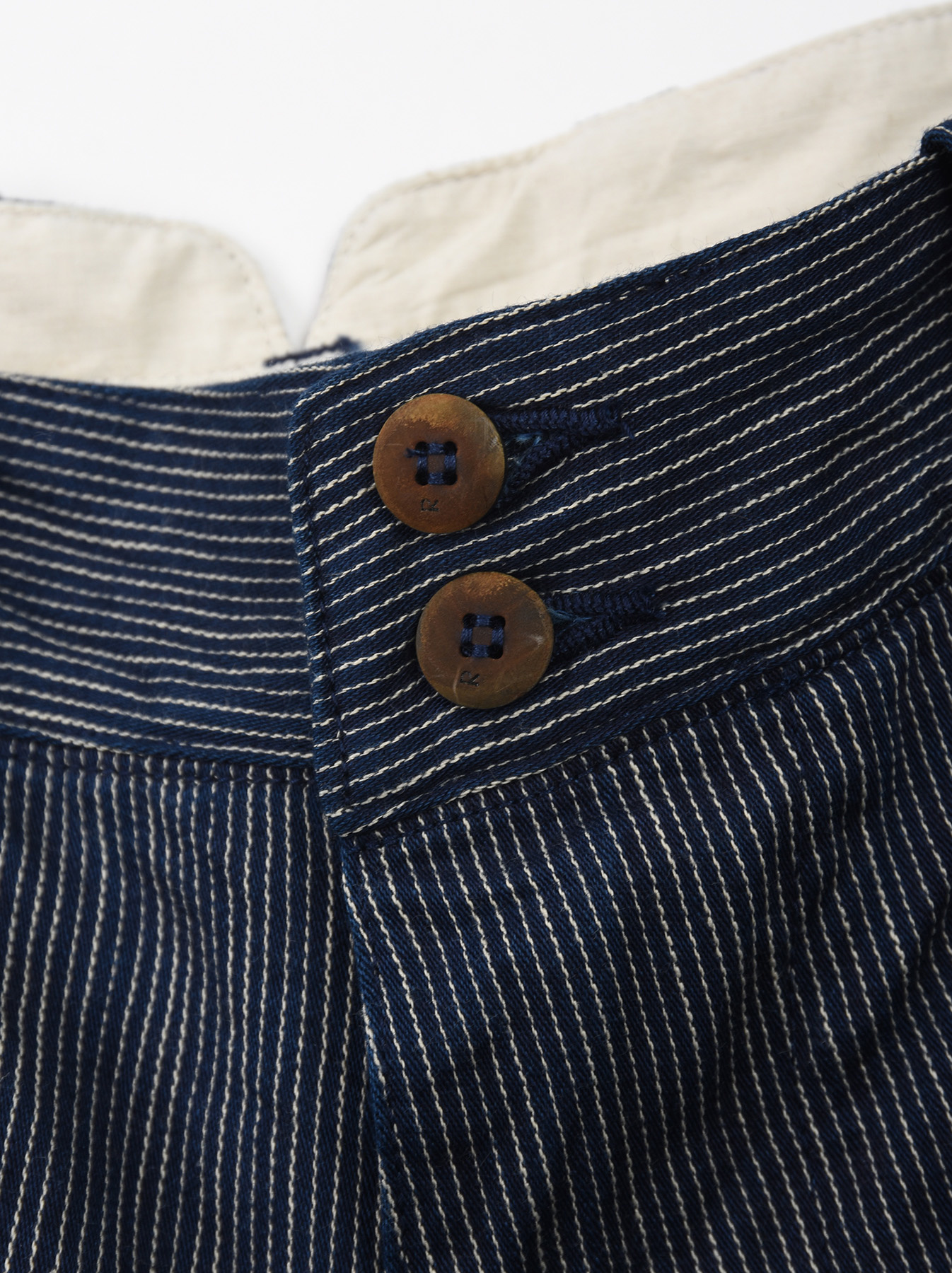 WH Indigo Mugi Yoko-shusi Work Pants-7